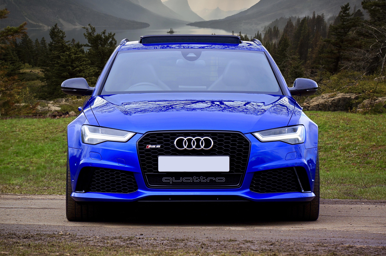 108596 Заставки и Обои Вид Спереди на телефон. Скачать Вид Спереди, Ауди (Audi), Тачки (Cars), Синий, Машина, Audi Rs6 картинки бесплатно