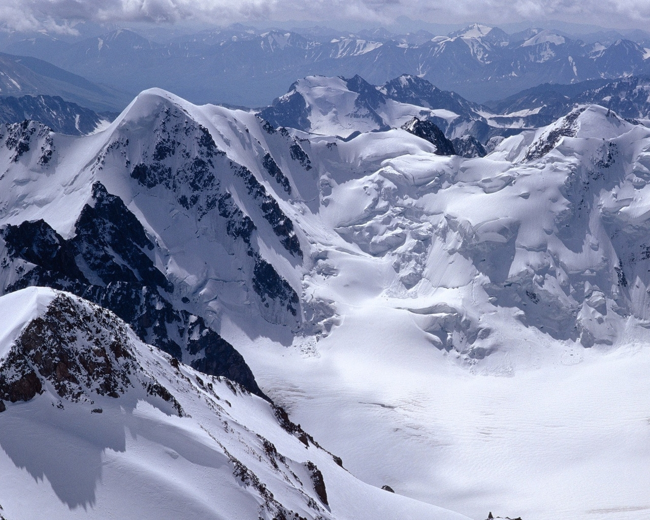 7049 скачать обои Пейзаж, Зима, Горы - заставки и картинки бесплатно