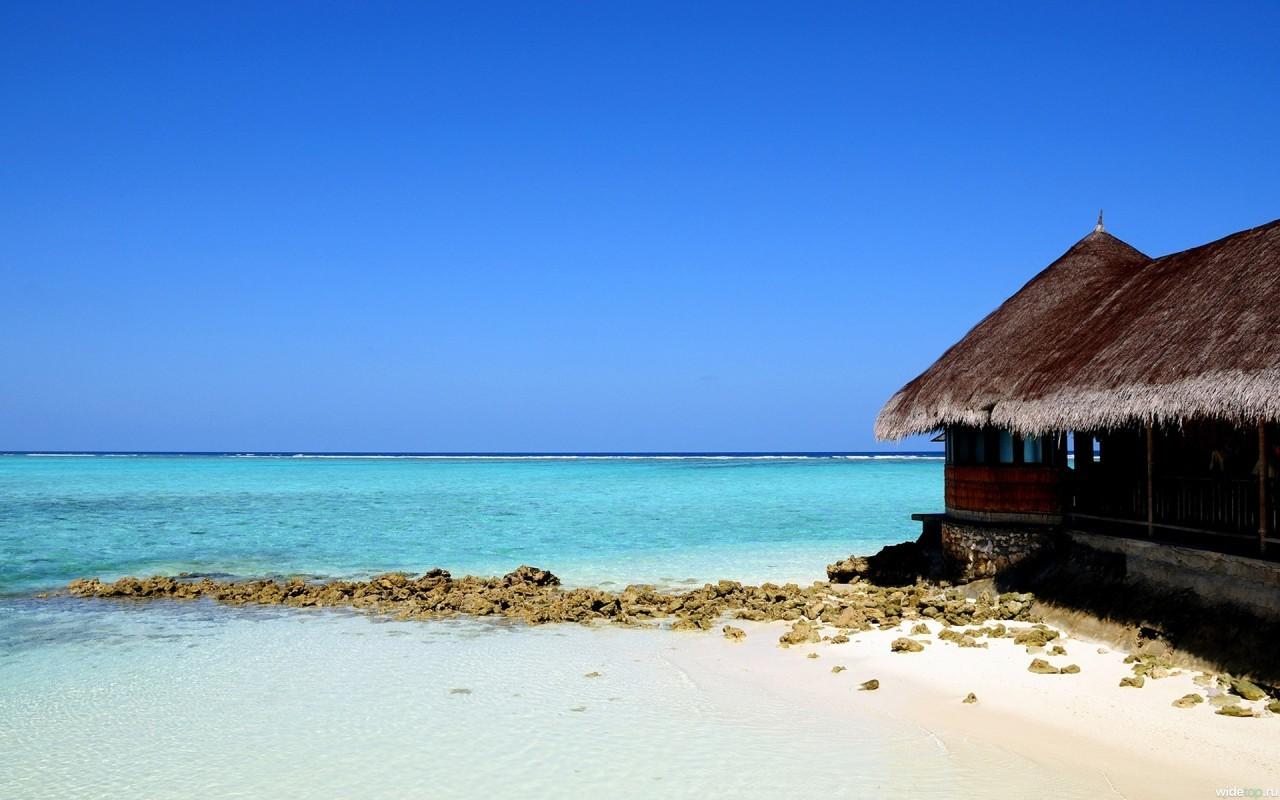 11450 скачать обои Пейзаж, Дома, Море, Пляж - заставки и картинки бесплатно