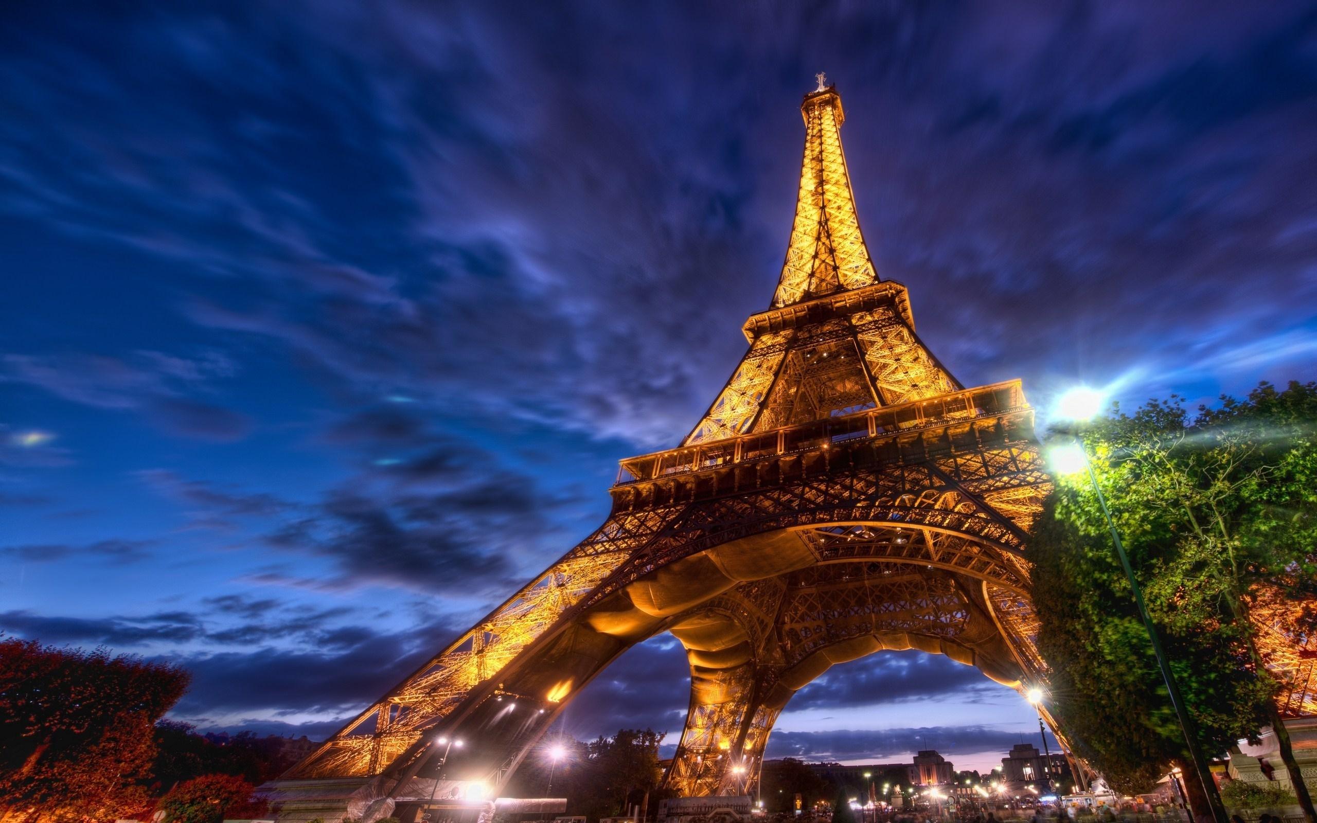 26090 скачать обои Пейзаж, Ночь, Архитектура, Эйфелева Башня - заставки и картинки бесплатно