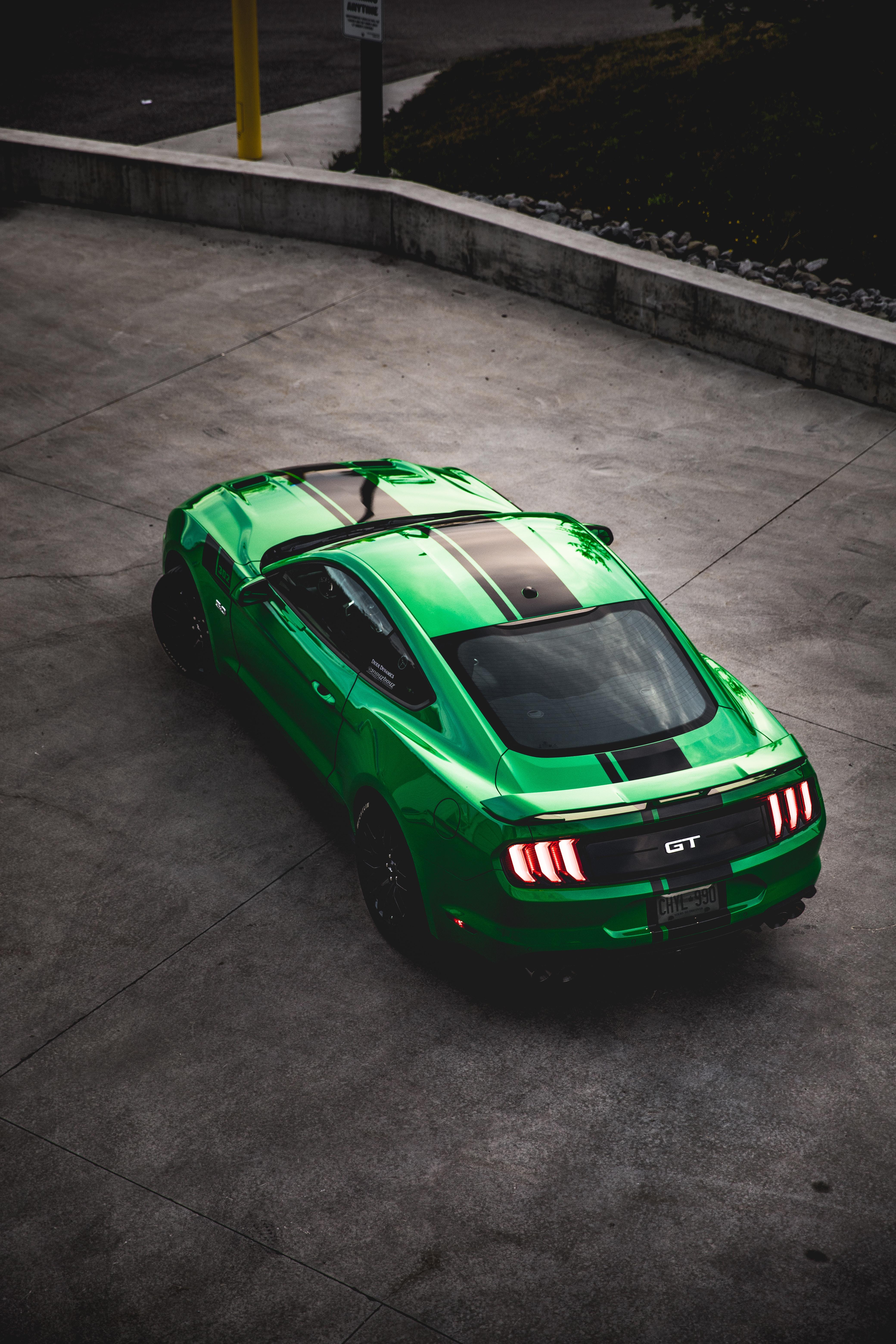 146489 Hintergrundbild herunterladen Ford, Auto, Sportwagen, Blick Von Oben, Sport, Cars, Maschine, Ford Mustang Gt - Bildschirmschoner und Bilder kostenlos