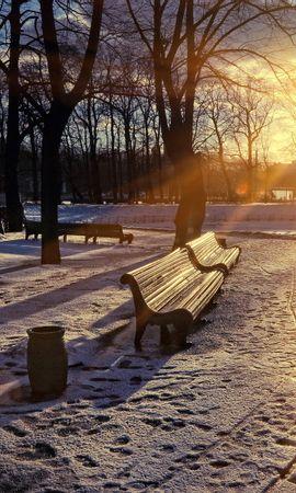 22053 скачать обои Пейзаж, Закат, Солнце, Снег - заставки и картинки бесплатно