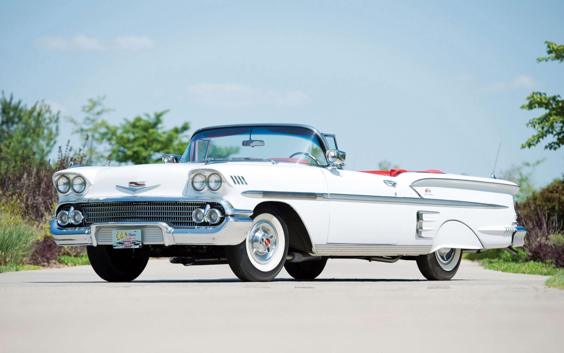 107599 скачать обои Тачки (Cars), Шевроле (Chevrolet), Bel Air, Impala, 1958, Кабриолет - заставки и картинки бесплатно