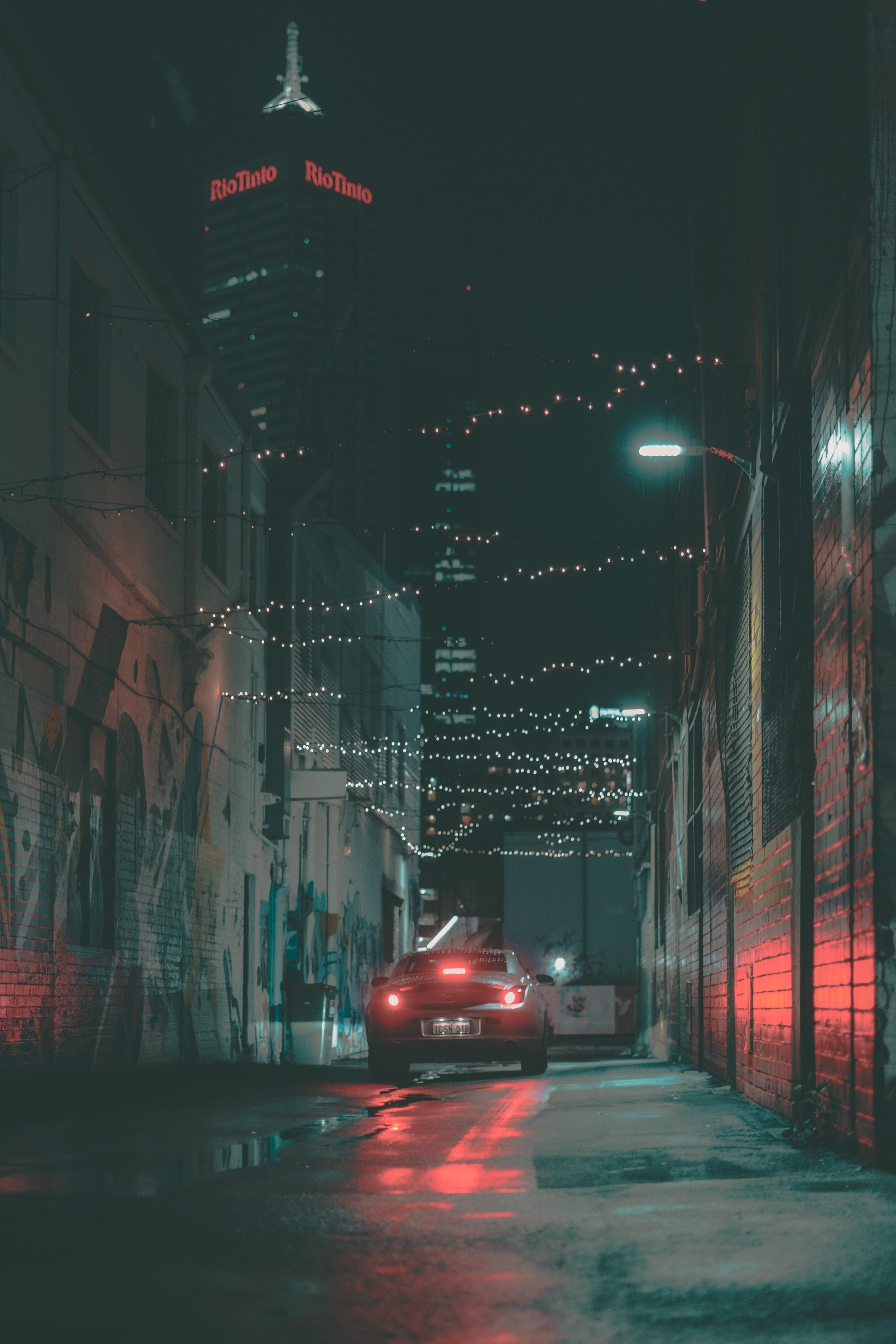 免費下載 63651: 汽车, 街道, 黑暗的, 黑暗, 车, 辉光, 发光, 大灯, 街 桌面壁紙