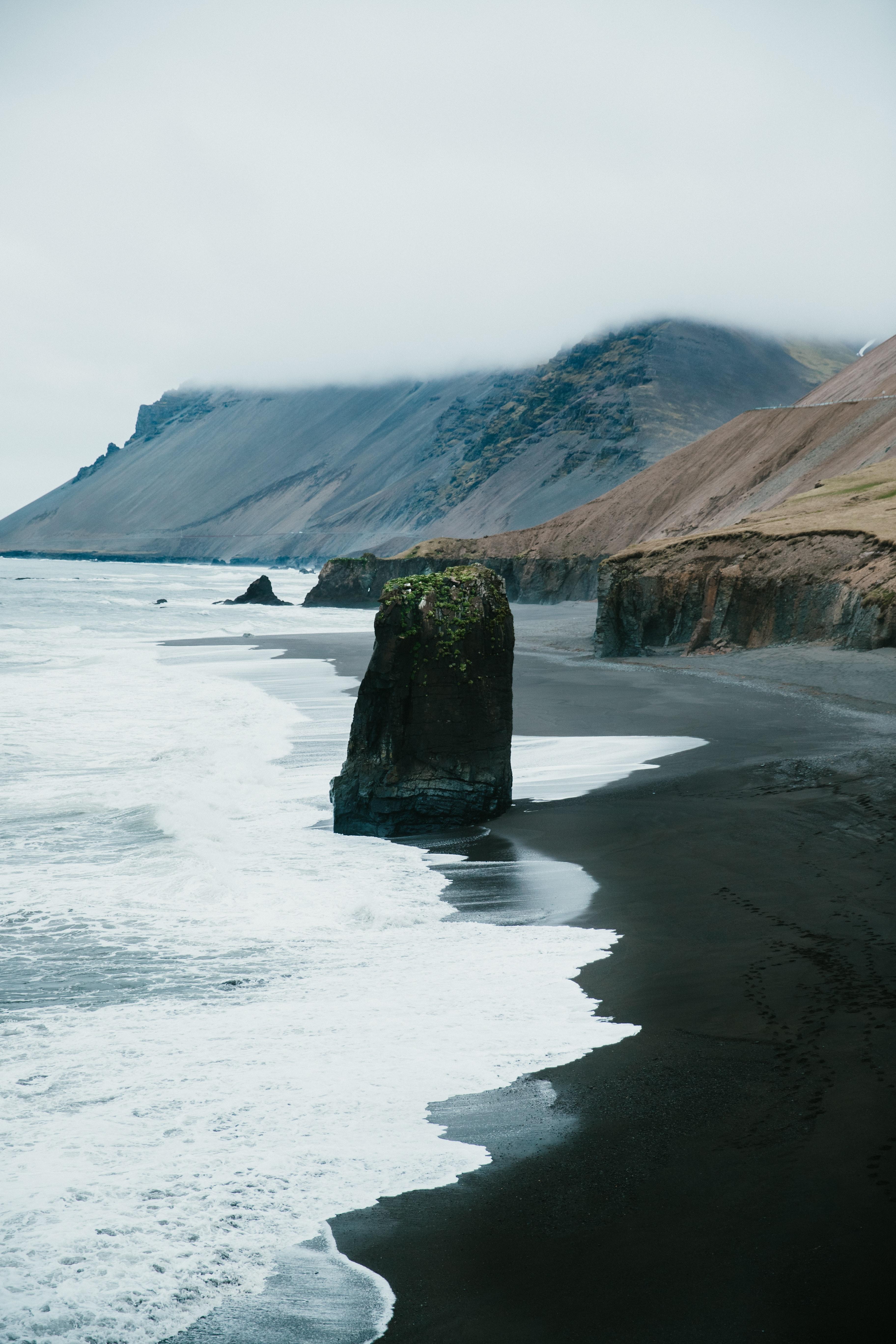 145882壁紙のダウンロードビーチ, 海洋, 大洋, 岩, 水, 自然, 山脈-スクリーンセーバーと写真を無料で