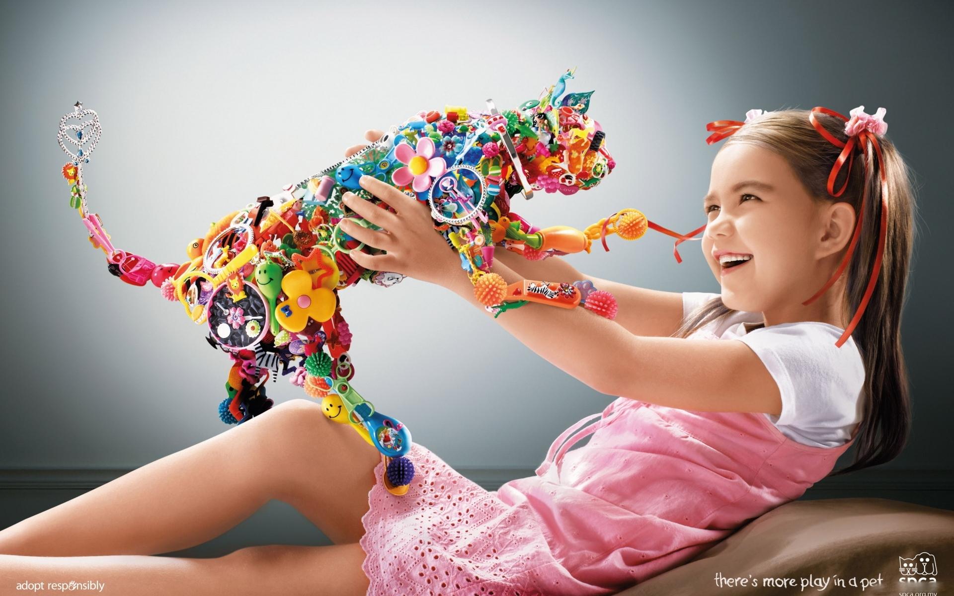 24356 скачать обои Люди, Дети, Игрушки - заставки и картинки бесплатно