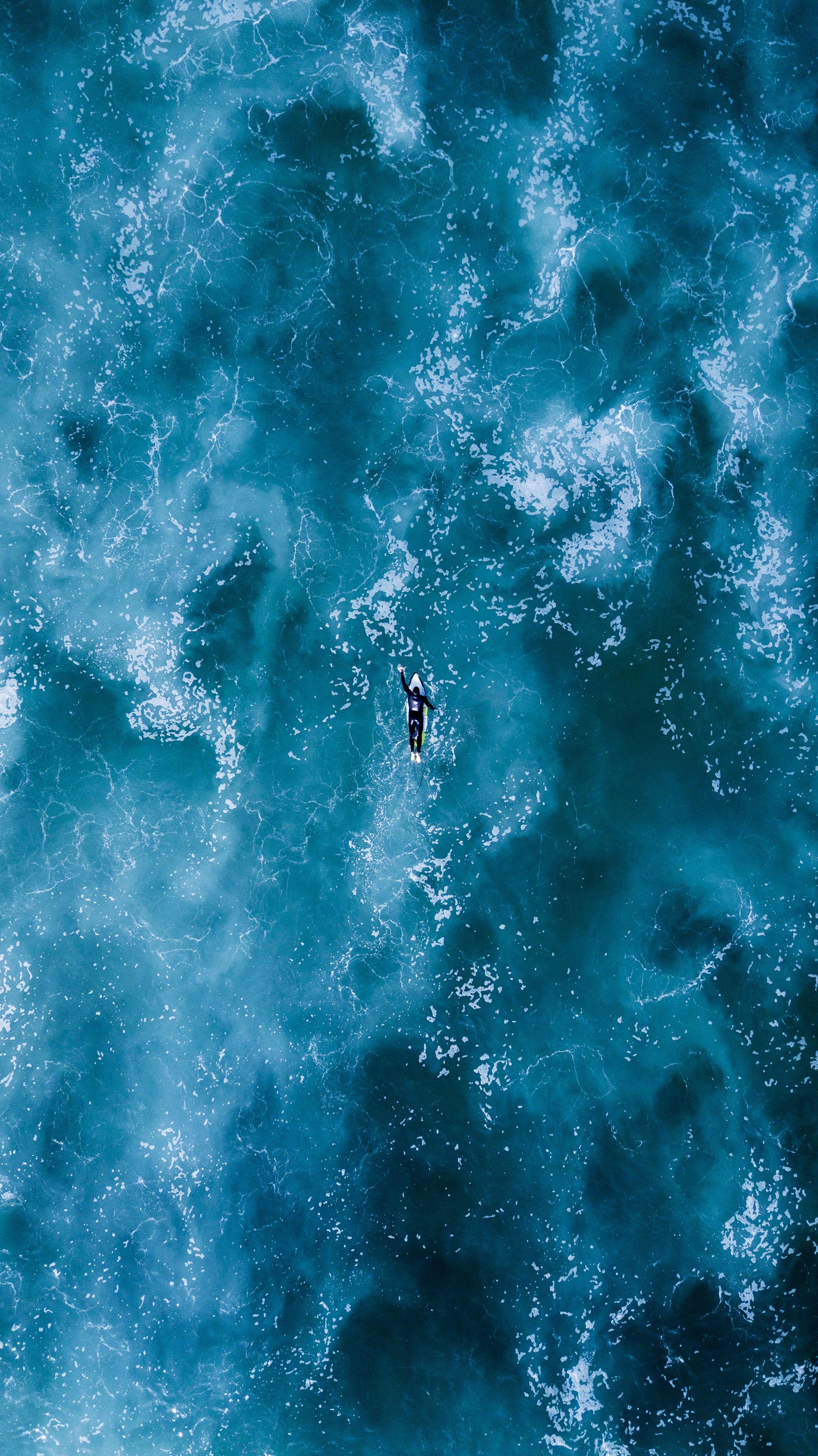 116682 download wallpaper Nature, Serfing, Ocean, View From Above, Waves screensavers and pictures for free
