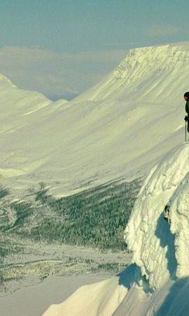 18702 скачать обои Пейзаж, Люди, Горы, Снег - заставки и картинки бесплатно