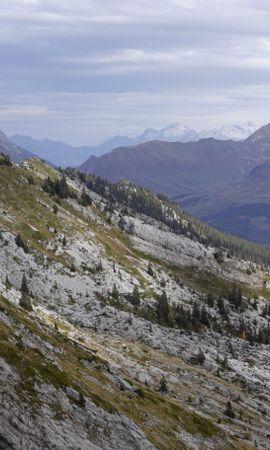 Скачать бесплатно картинку 144478: Рельеф, Деревья, Природа, Горы, Пейзаж обои на телефон