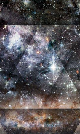 123064 скачать обои Абстракция, Треугольник, Свет, Точки, Пятна, Блеск - заставки и картинки бесплатно