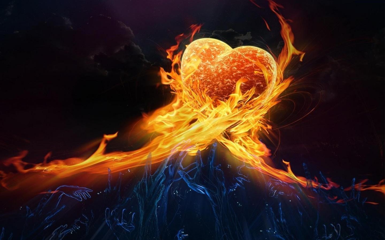 13302 免費下載壁紙 艺术, 火, 心, 情人节, 图片 屏保和圖片