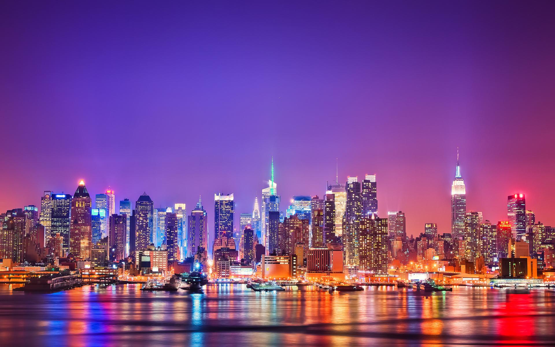 26763 免費下載壁紙 景观, 城市, 海, 夜 屏保和圖片