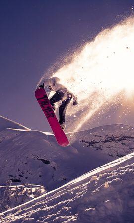 118492 Salvapantallas y fondos de pantalla Nieve en tu teléfono. Descarga imágenes de Deportes, Tabla De Snowboard, Snowboard, Truco, Rebotar, Saltar, Nieve gratis