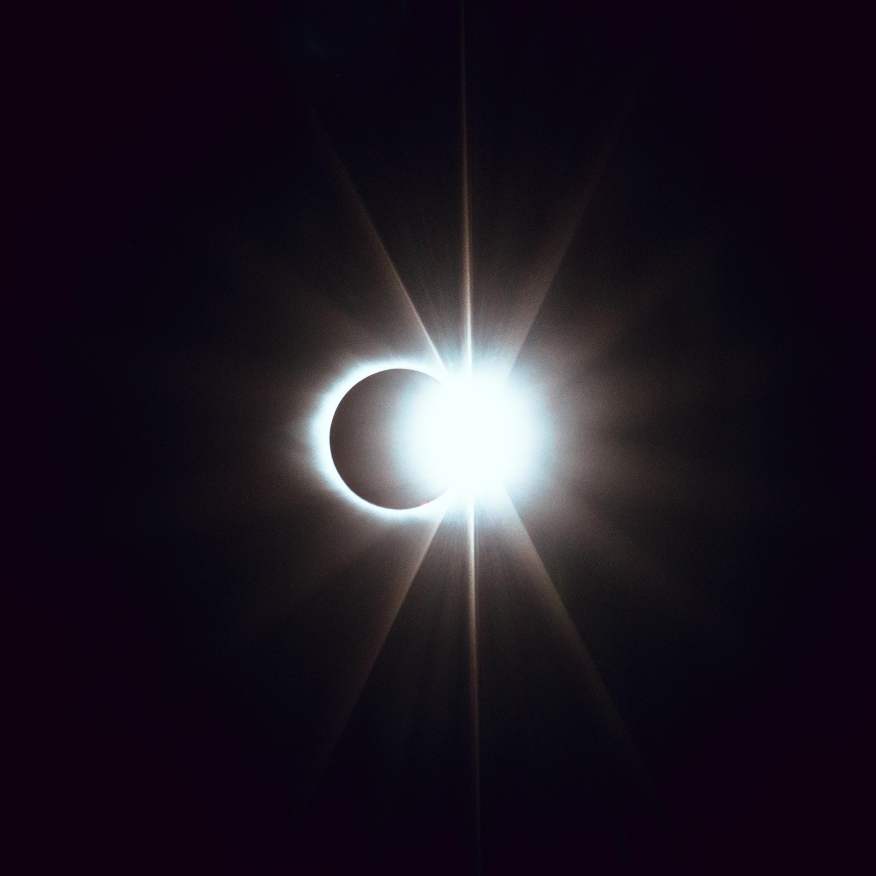 53674壁紙のダウンロード闇, 暗い, 日食, 食, ムーン, 輝く, 光, ビーム, 光線-スクリーンセーバーと写真を無料で