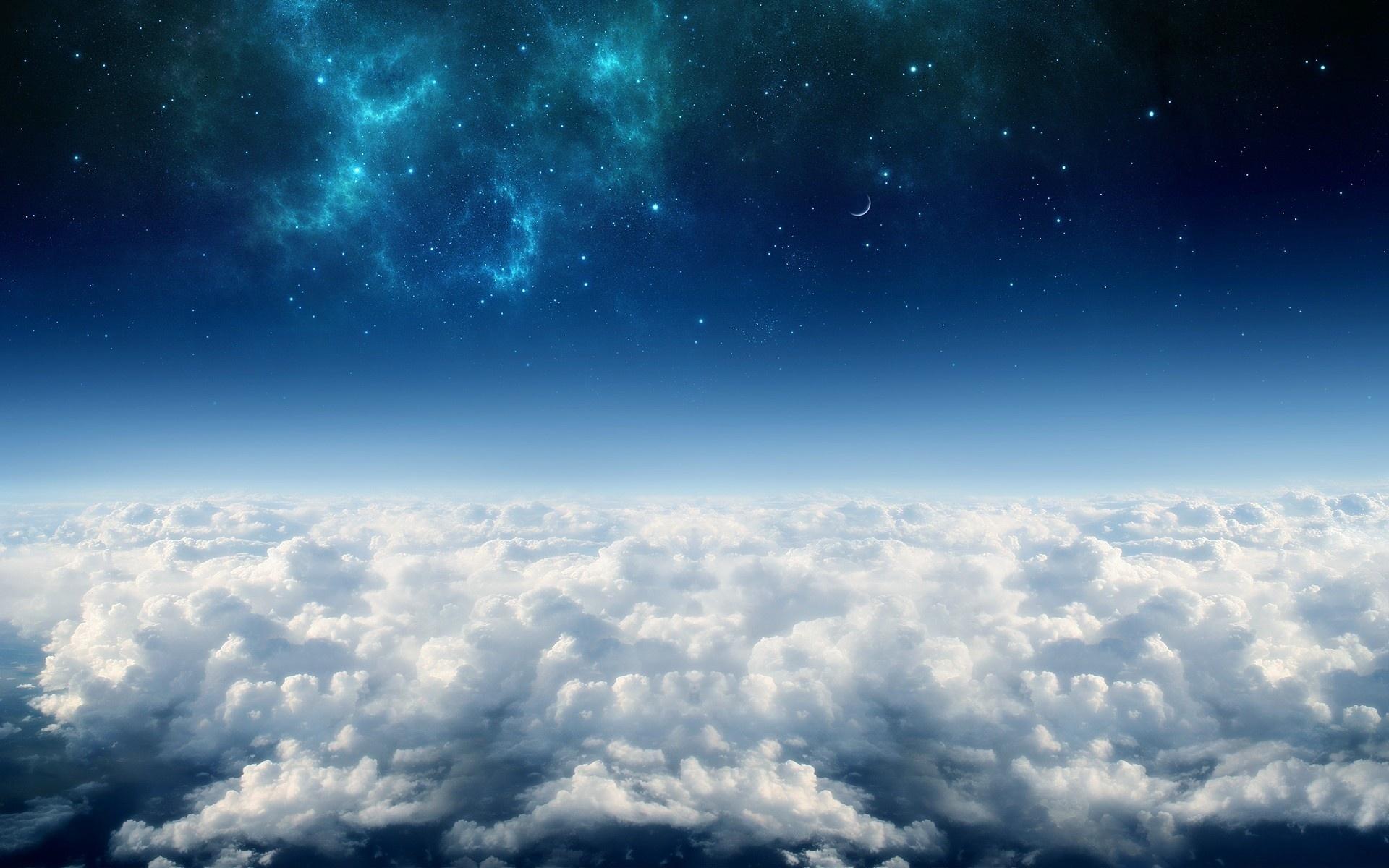 27288 скачать обои Пейзаж, Небо, Звезды, Облака - заставки и картинки бесплатно