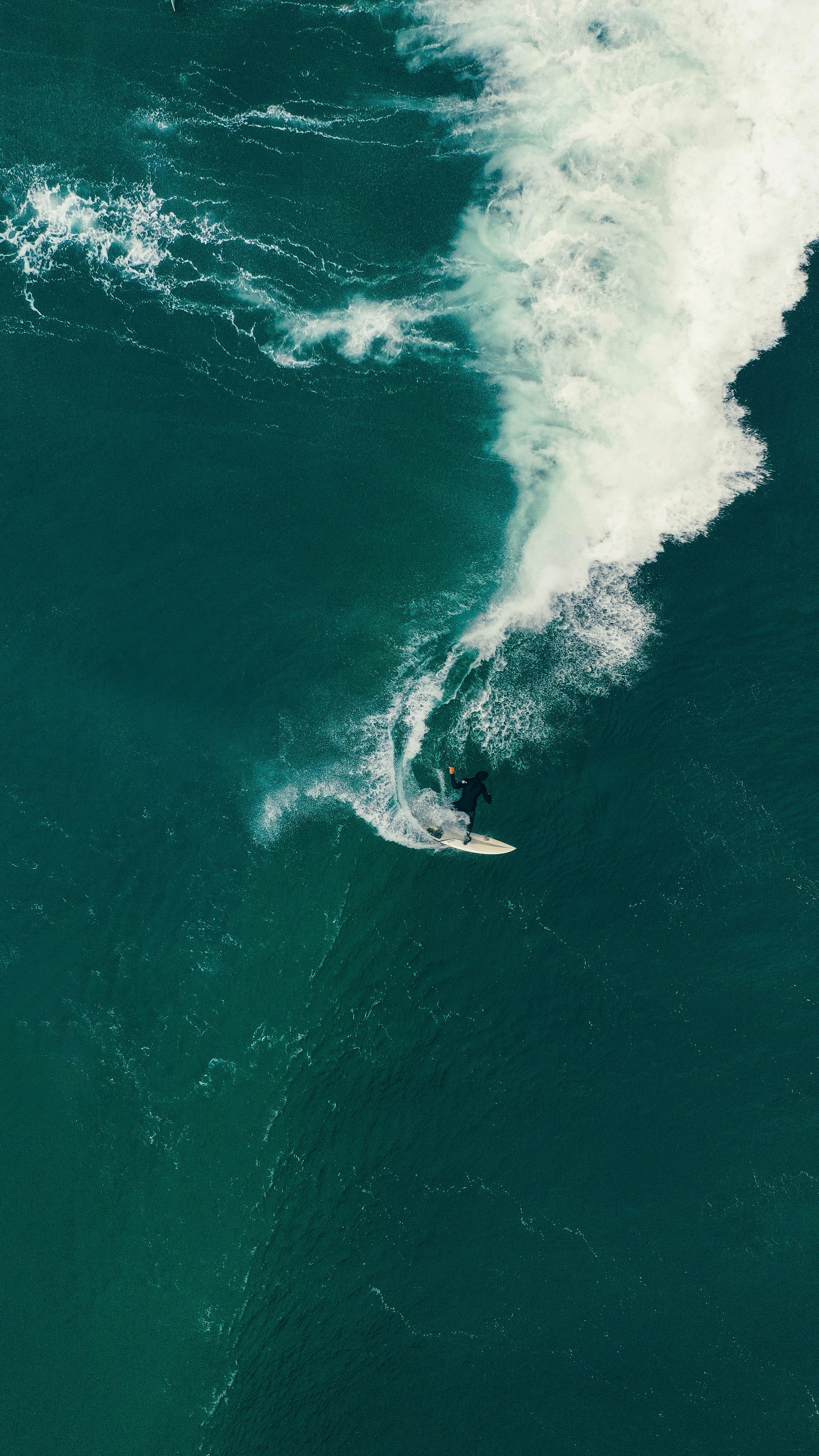 79841 download wallpaper Sports, Serfing, Surfer, Wave, Sea, View From Above screensavers and pictures for free