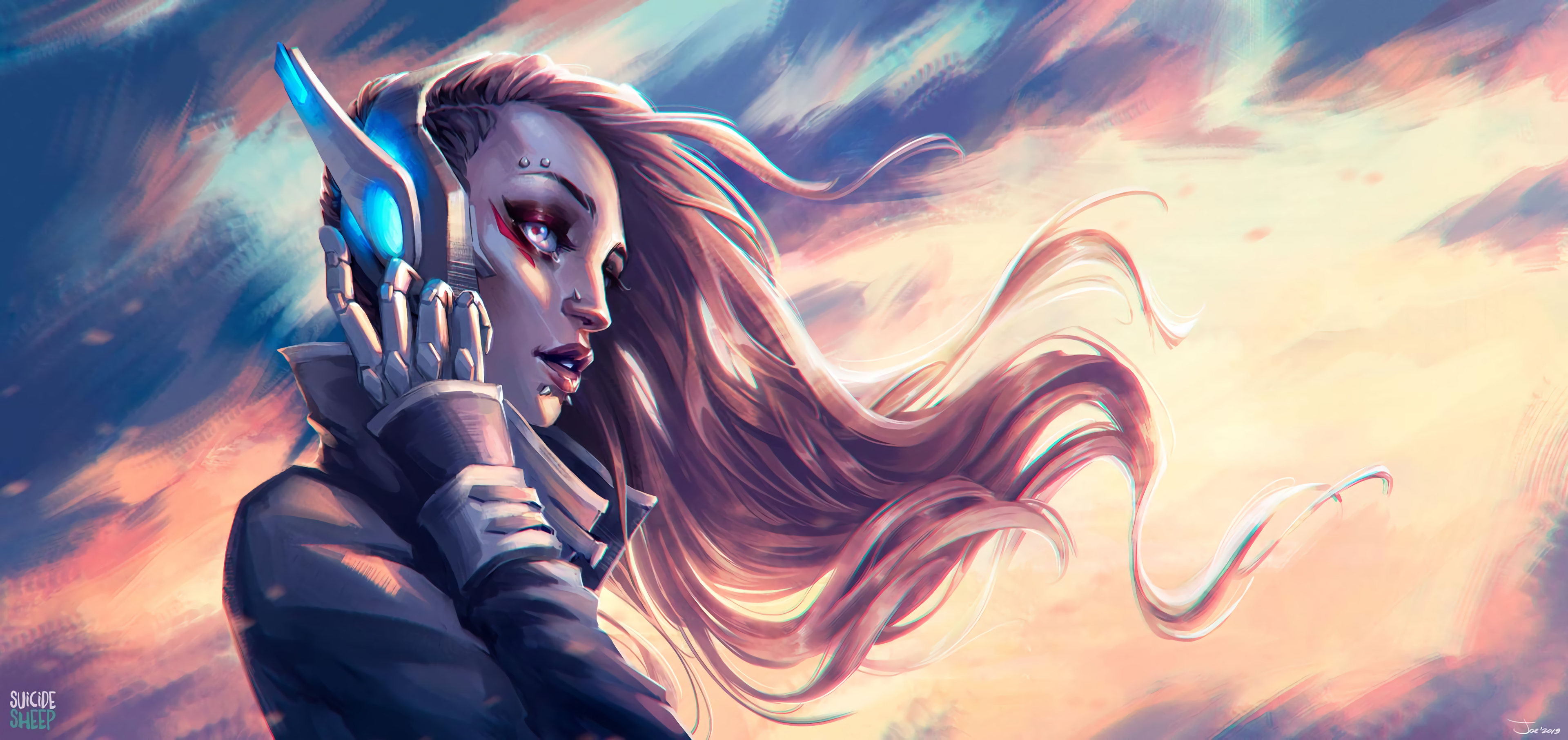 85361 Screensavers and Wallpapers Robot for phone. Download Art, Headphones, Girl, Robot, Cyborg, Piercing pictures for free