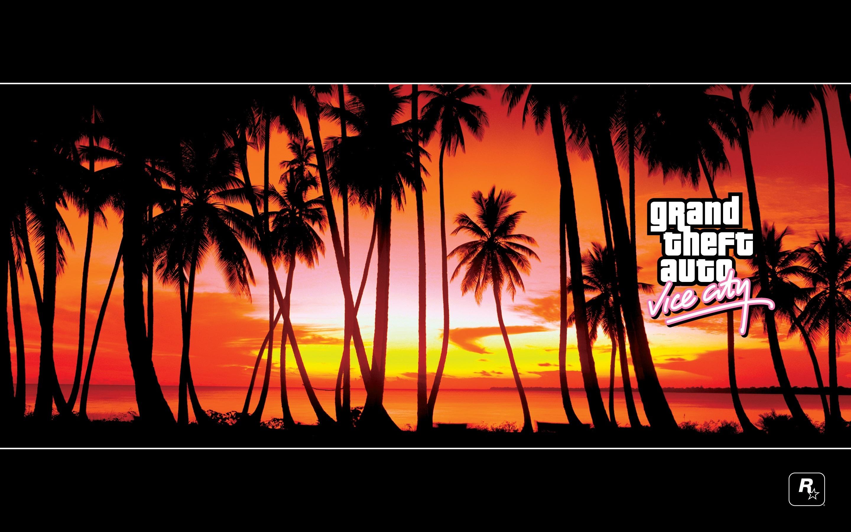 19280 скачать обои Игры, Закат, Пальмы, Grand Theft Auto (Gta) - заставки и картинки бесплатно