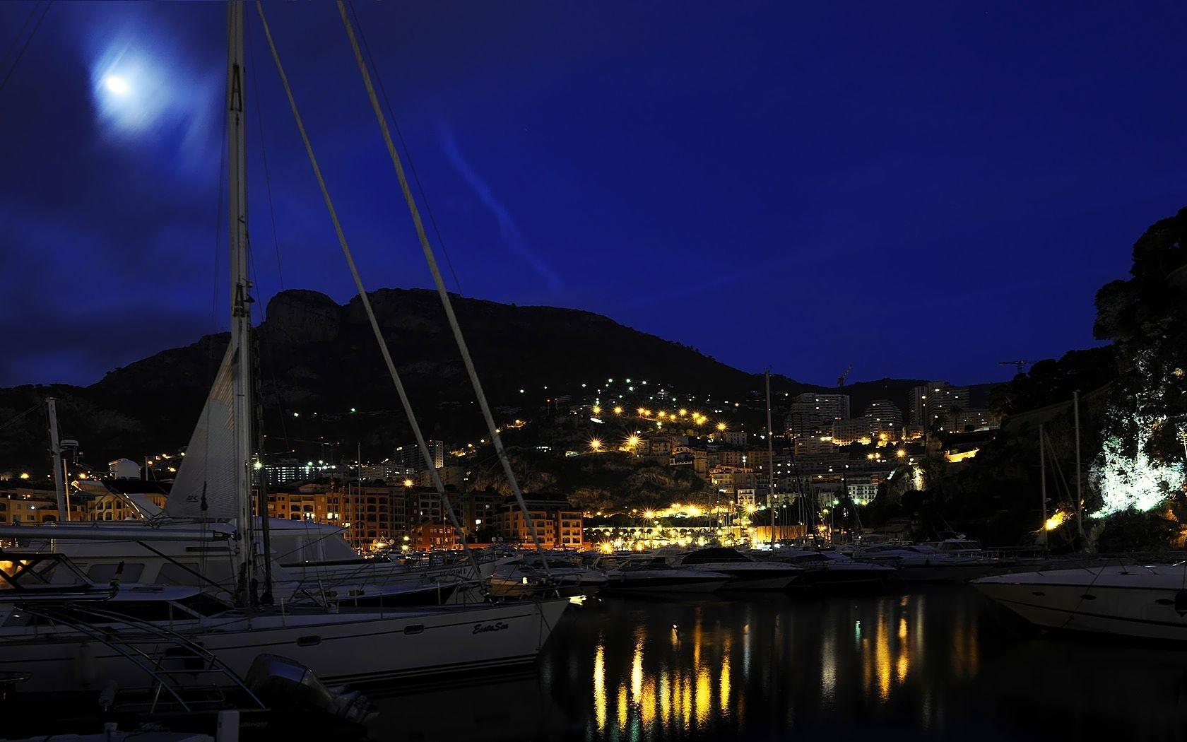 26273 免費下載壁紙 运输, 景观, 海, 夜, 游艇 屏保和圖片
