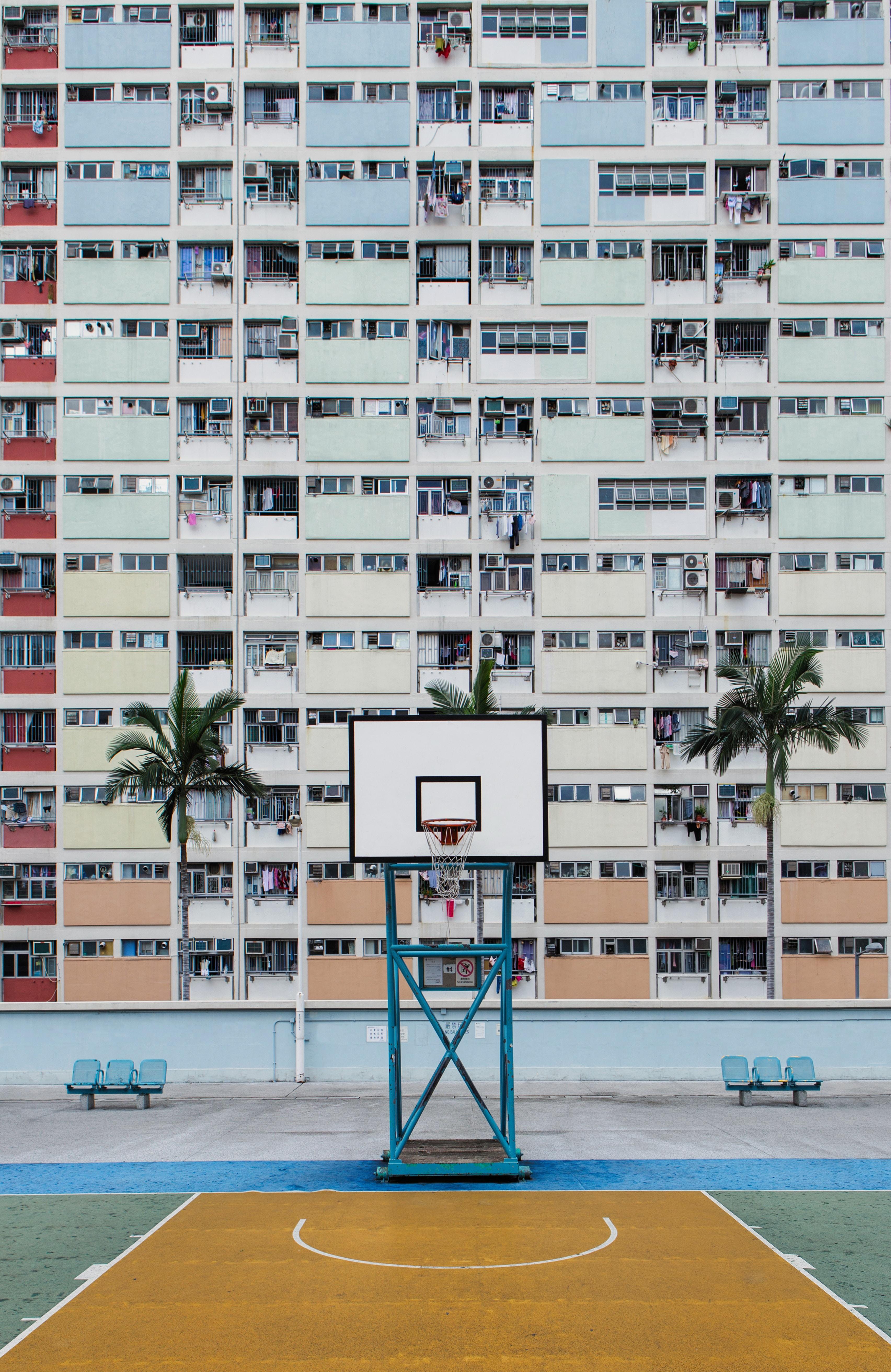 103635 скачать обои Спорт, Баскетбольная Площадка, Площадка, Крыша, Здание, Городской - заставки и картинки бесплатно