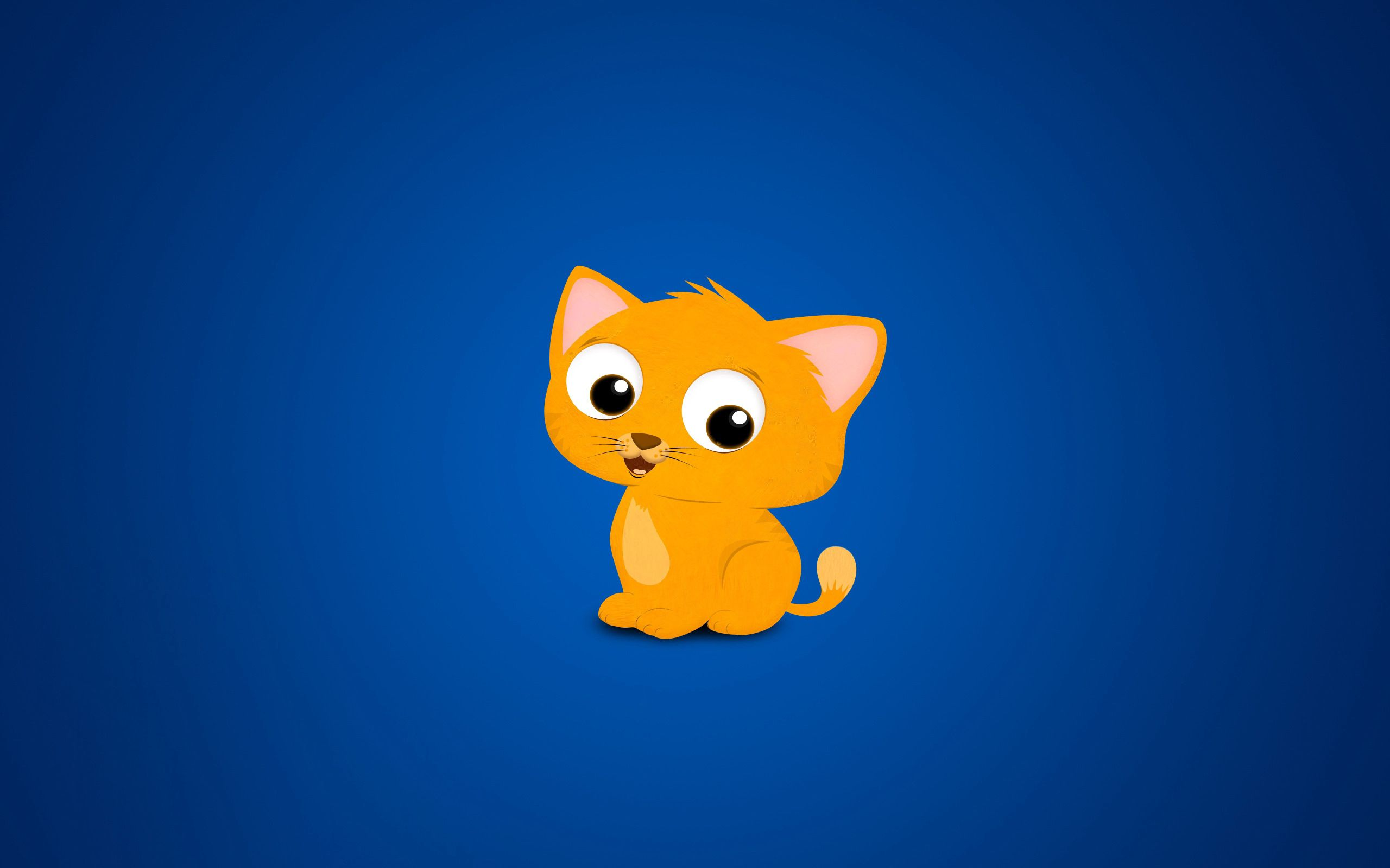 59265 download wallpaper Vector, Cat, Kitty, Kitten, Picture, Drawing, Redhead screensavers and pictures for free