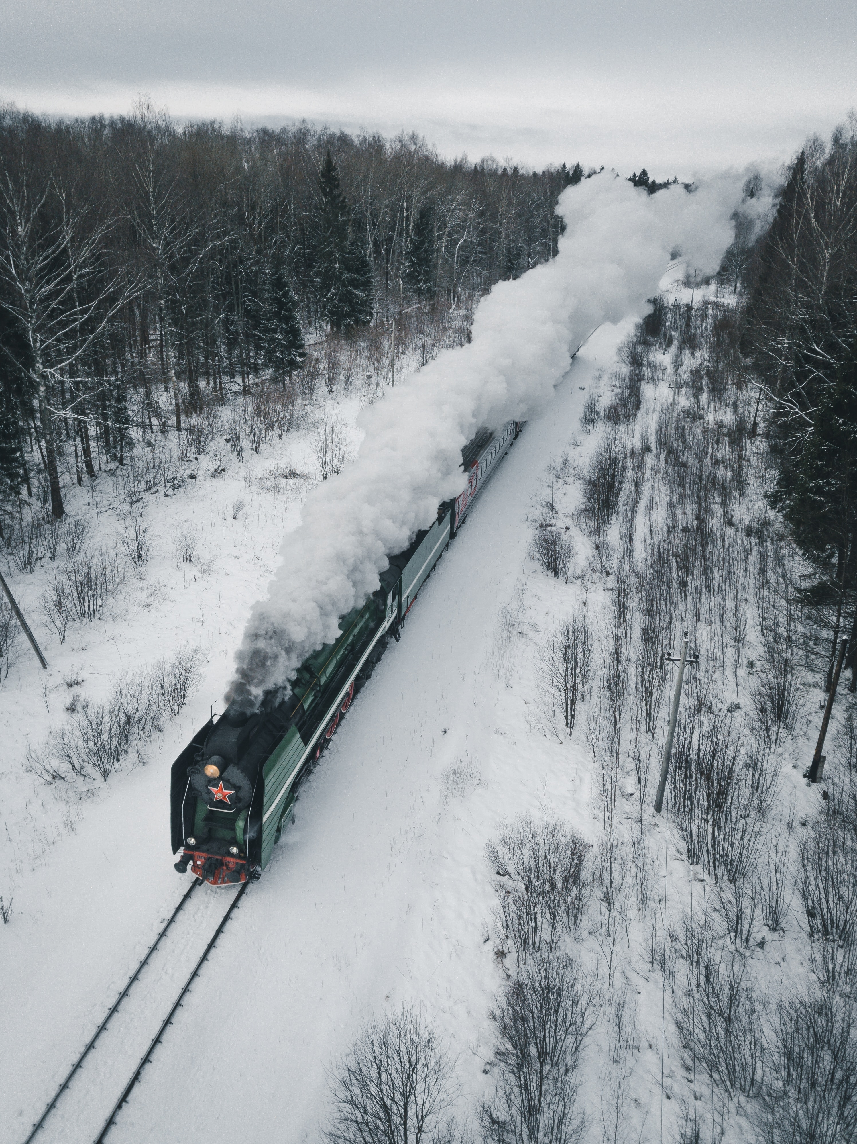 62828 Screensavers and Wallpapers Train for phone. Download Winter, Smoke, Miscellanea, Miscellaneous, Railway, Train, Locomotive, Steam Locomotive pictures for free