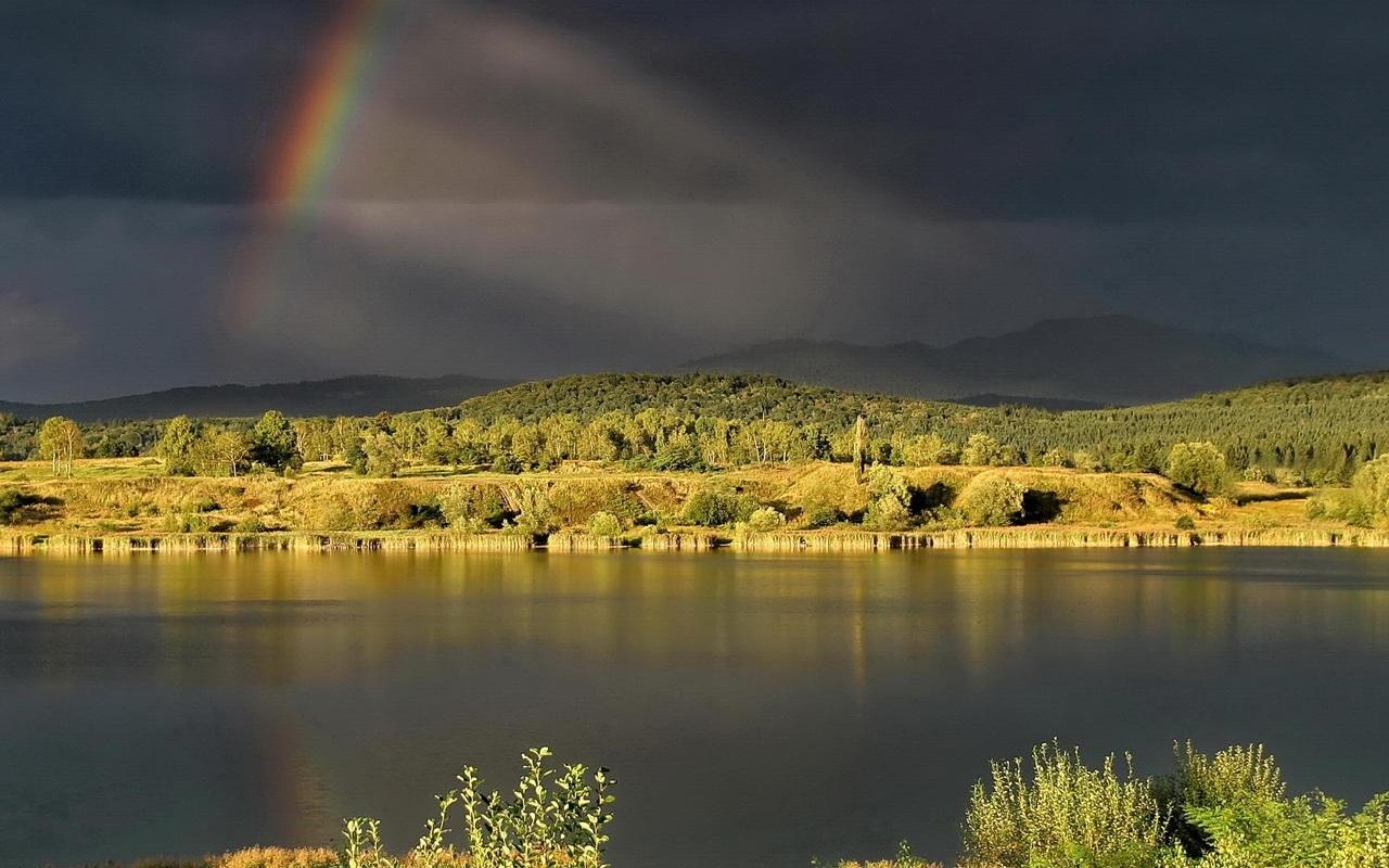 30506 免費下載壁紙 景观, 河, 彩虹 屏保和圖片