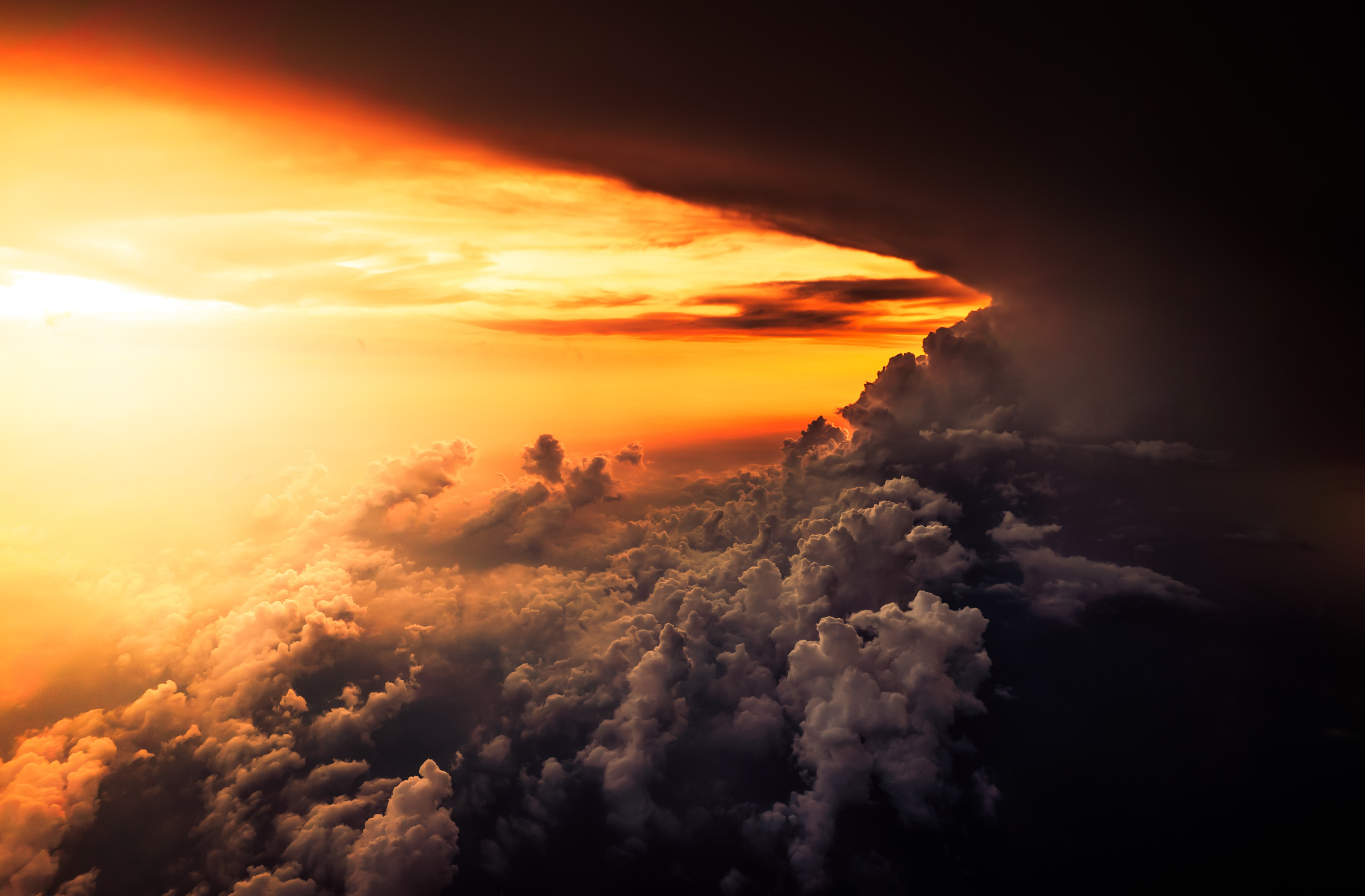 78251 download wallpaper Clouds, Nature, Sunset, Sky, Mainly Cloudy, Overcast, Porous screensavers and pictures for free