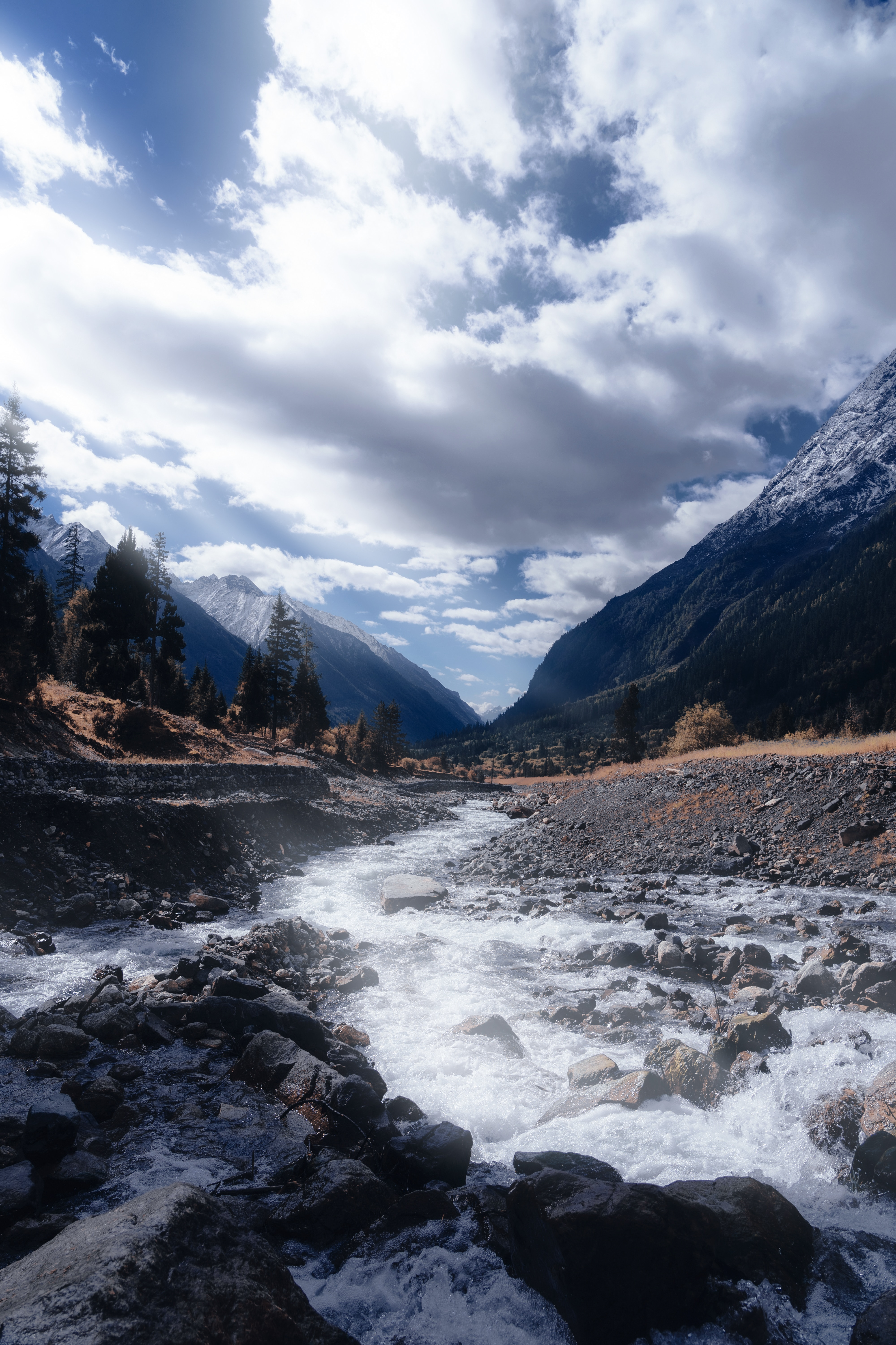 59891 download wallpaper Rivers, Creek, Brook, Nature, Mountains, Landscape screensavers and pictures for free