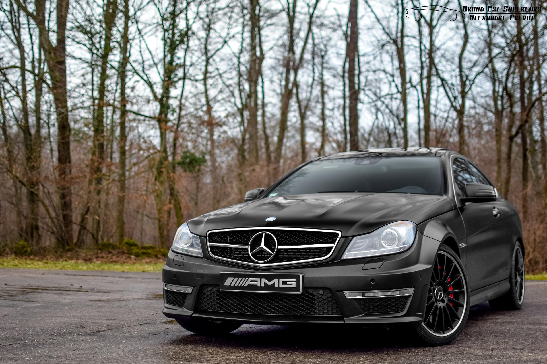 147048 Заставки и Обои Фары на телефон. Скачать Тачки (Cars), Черный, Фары, Coupe, Mercedes-Benz C63 Amg картинки бесплатно