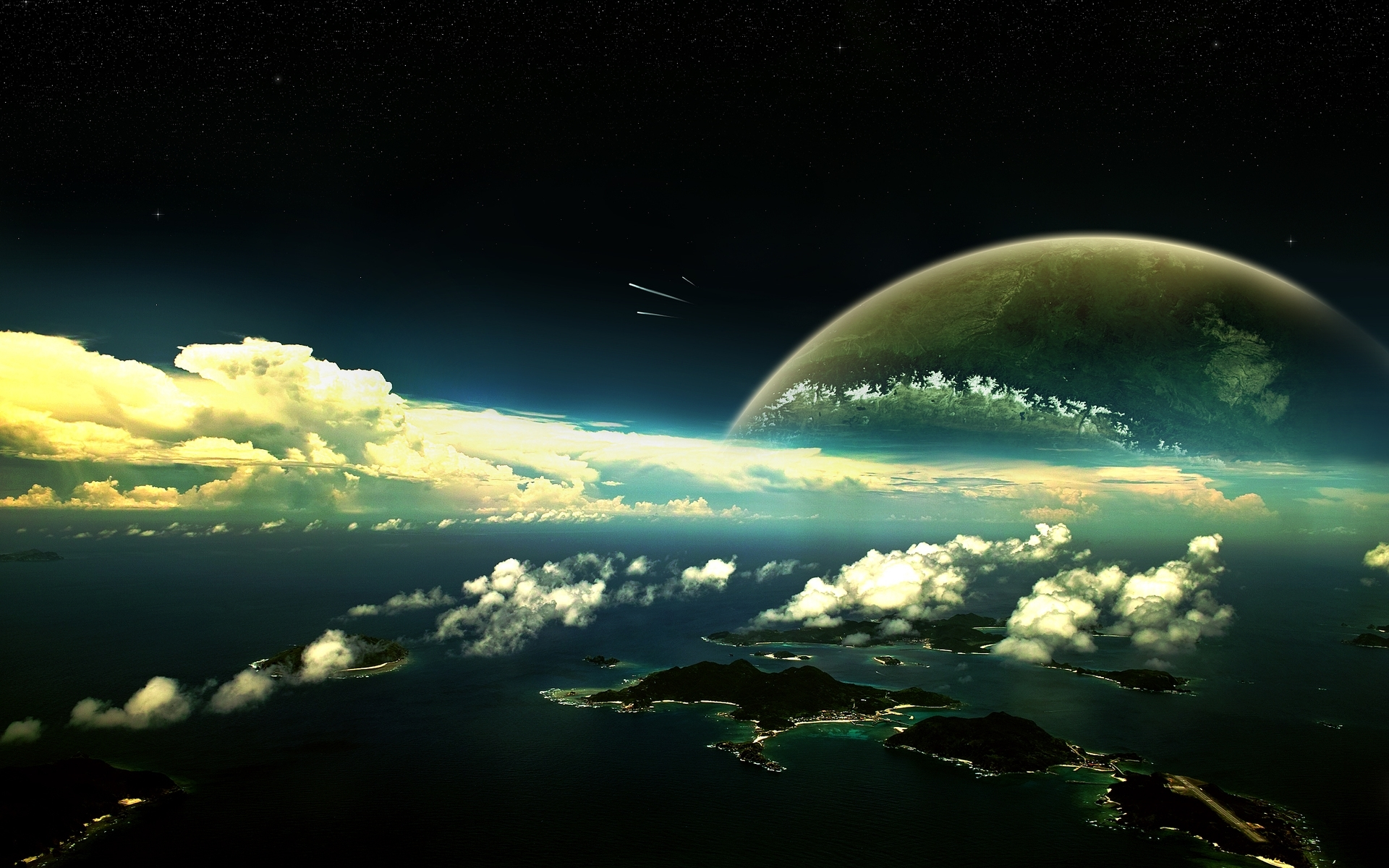 40704 download wallpaper Landscape, Planets screensavers and pictures for free