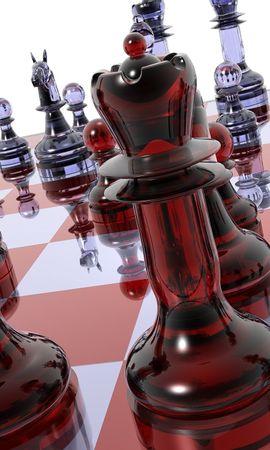 150784 скачать обои 3D, Доска, Фигуры, Стекло, Шахматы - заставки и картинки бесплатно
