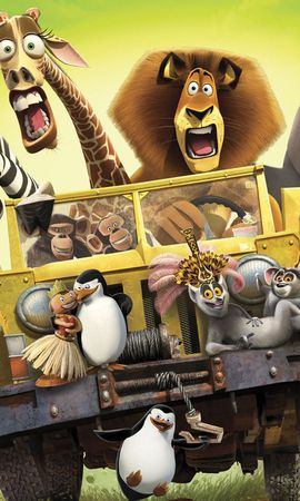 43585 download wallpaper Cinema, Animals, Madagascar, Pictures screensavers and pictures for free
