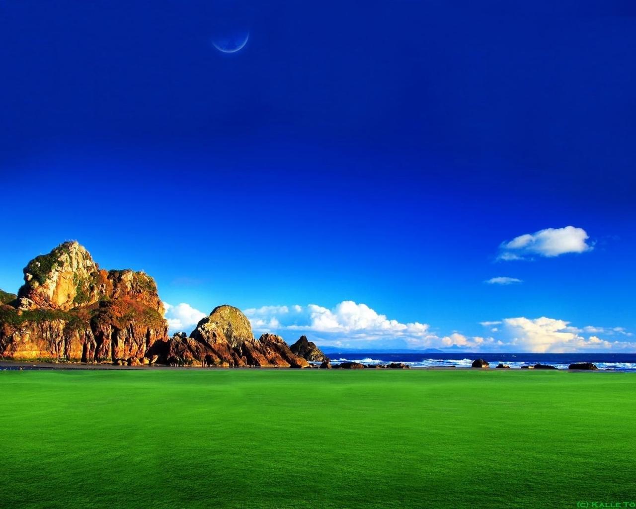 Скачать картинку Пейзаж, Небо, Горы в телефон бесплатно.