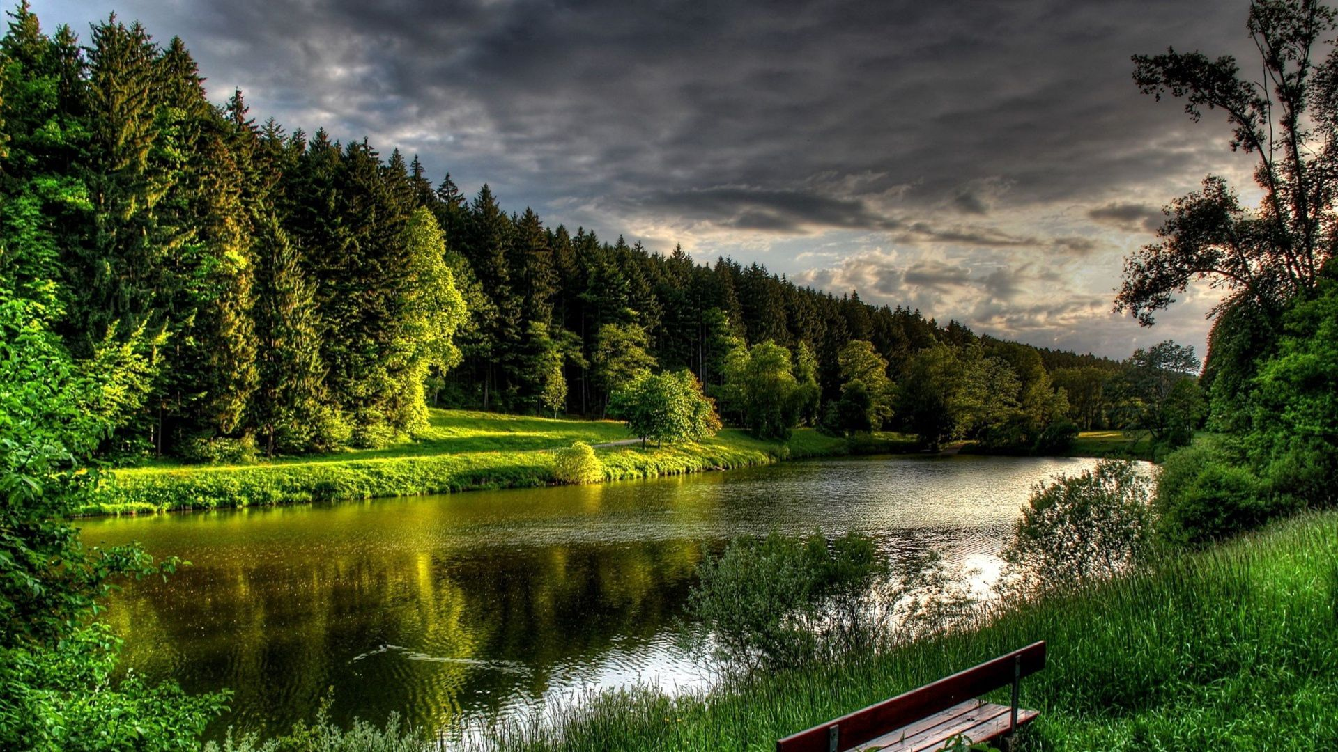 103345 Screensavers and Wallpapers Summer for phone. Download Nature, Rivers, Trees, Summer, Bench pictures for free