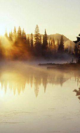 23949 скачать обои Пейзаж, Река, Деревья, Закат - заставки и картинки бесплатно