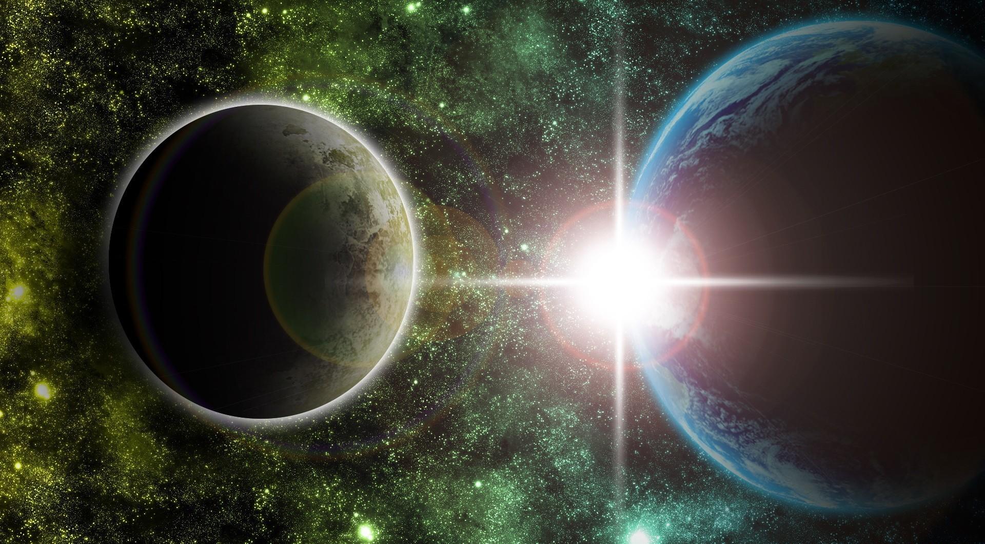 95449 скачать обои Свет, Лучи, Вселенная, Звезды, Космос, Планеты - заставки и картинки бесплатно