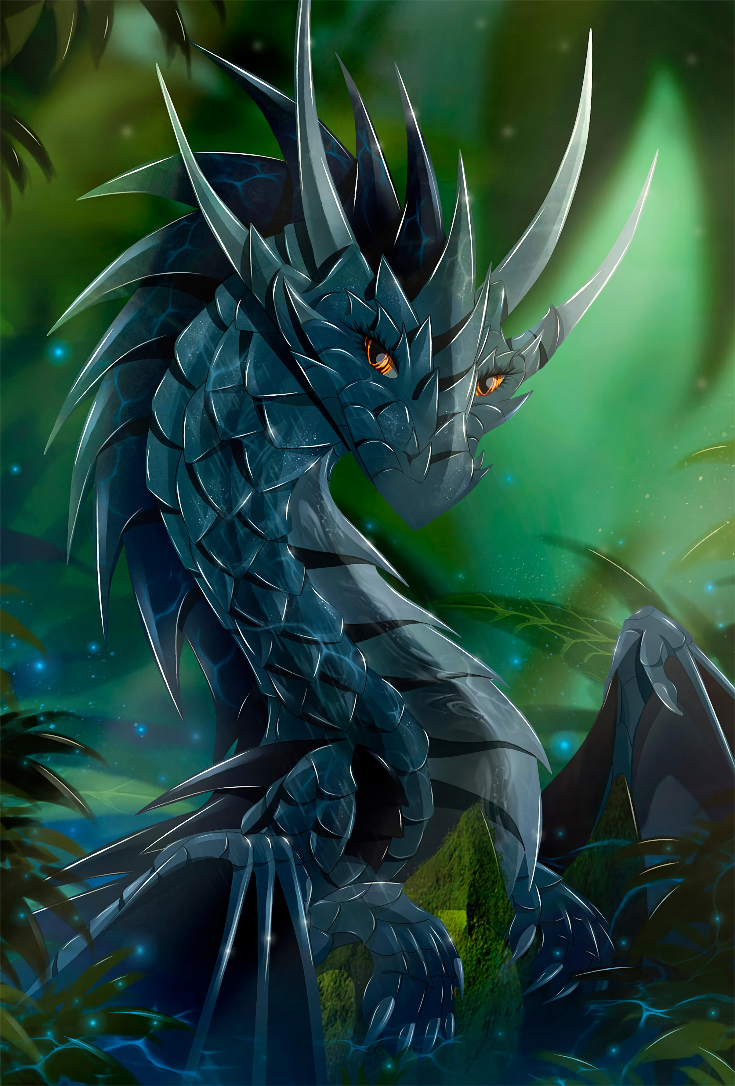 131675 download wallpaper Dragon, Sight, Opinion, Art, Being, Creature, Scales, Scale screensavers and pictures for free