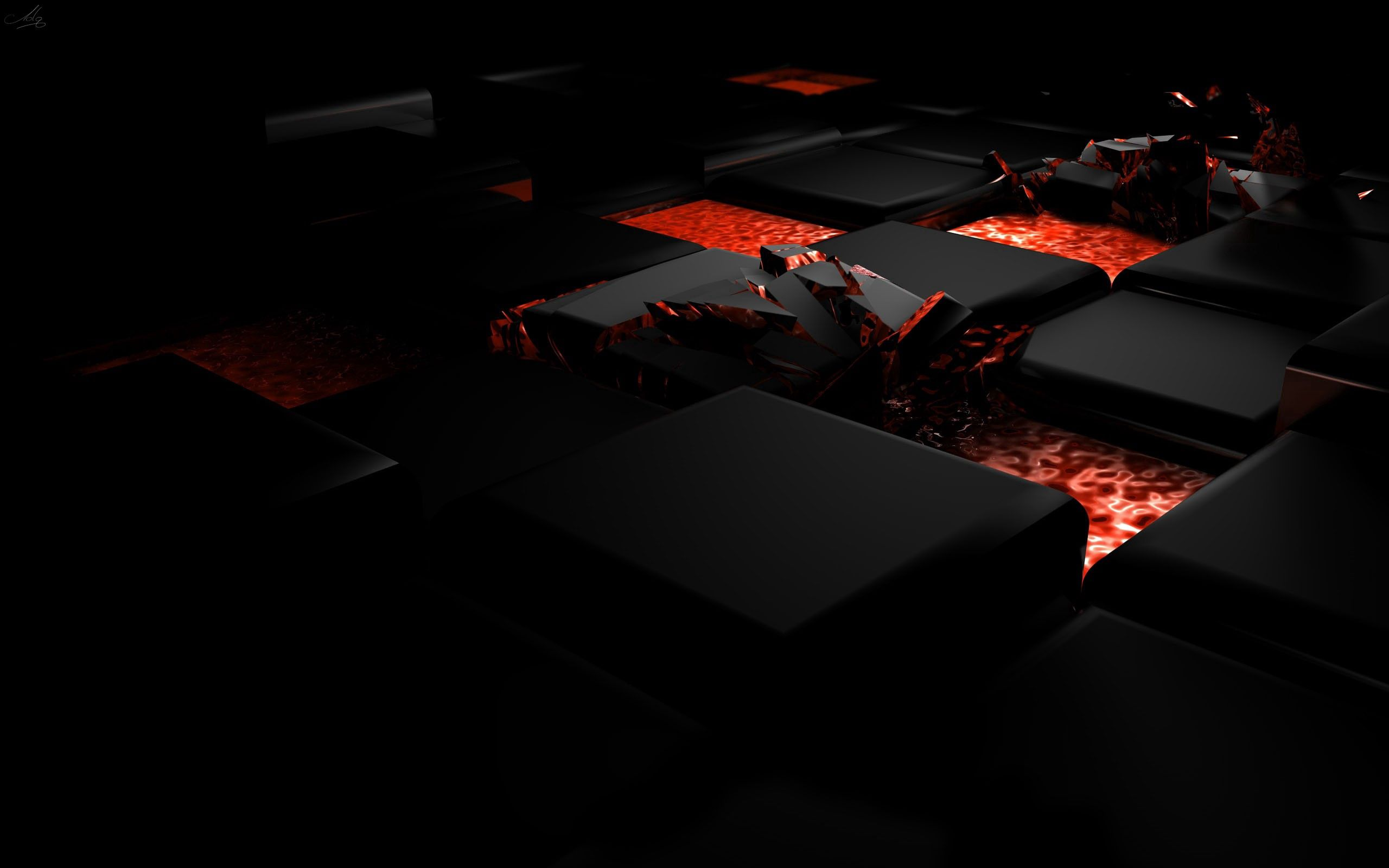 137697 download wallpaper 3D, Dark, Fire, Shine, Light, Cube, Alloy screensavers and pictures for free