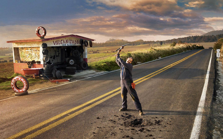 Handy-Wallpaper Menschen, Roads, Fotokunst, Männer kostenlos herunterladen.