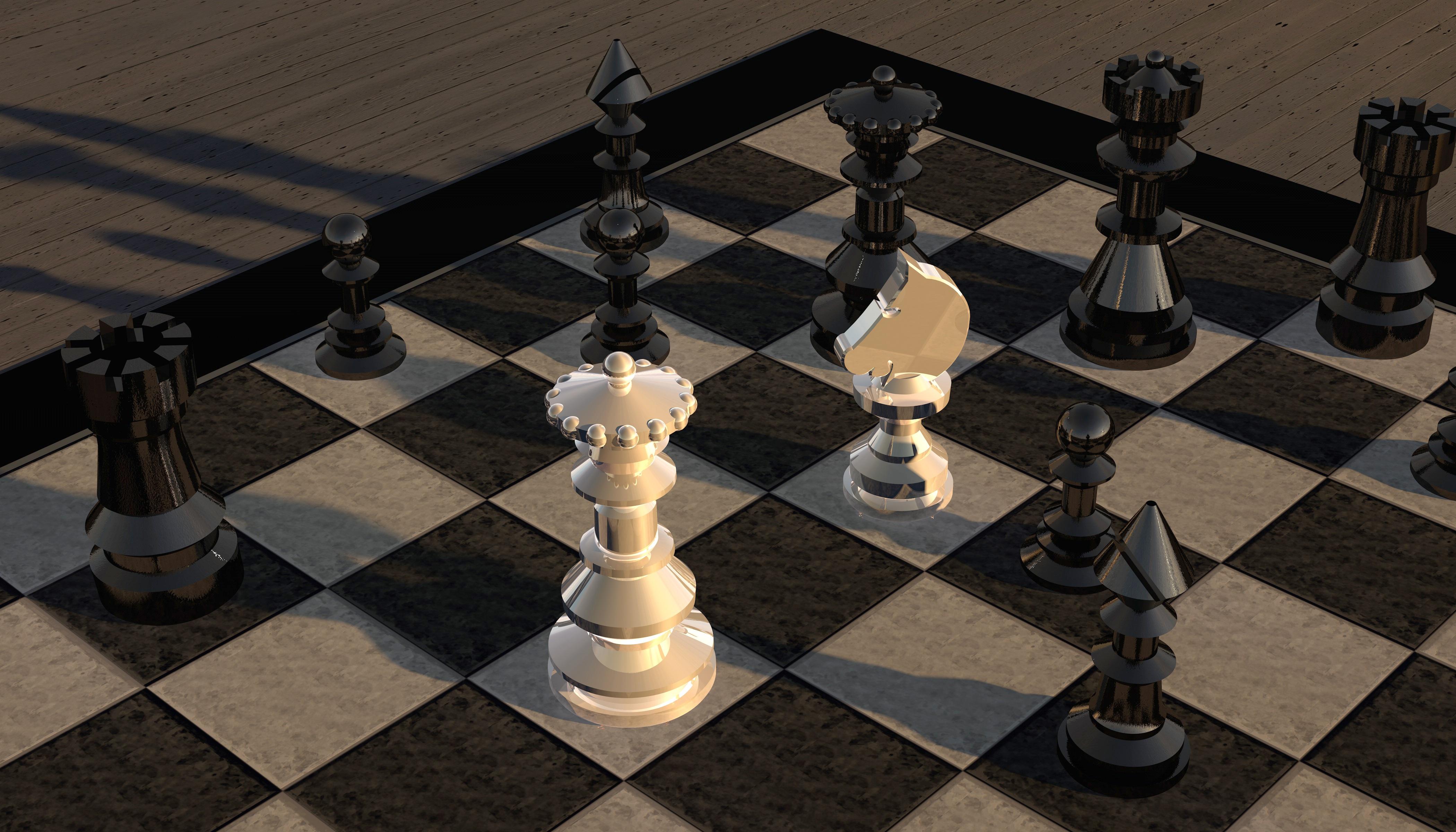 74106 Hintergrundbild herunterladen Chess, 3D, Zahlen, Figuren, Schachbrett - Bildschirmschoner und Bilder kostenlos
