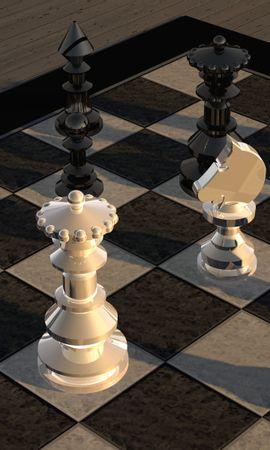 74106 скачать обои Шахматная Доска, Фигурки, 3D, Шахматы - заставки и картинки бесплатно