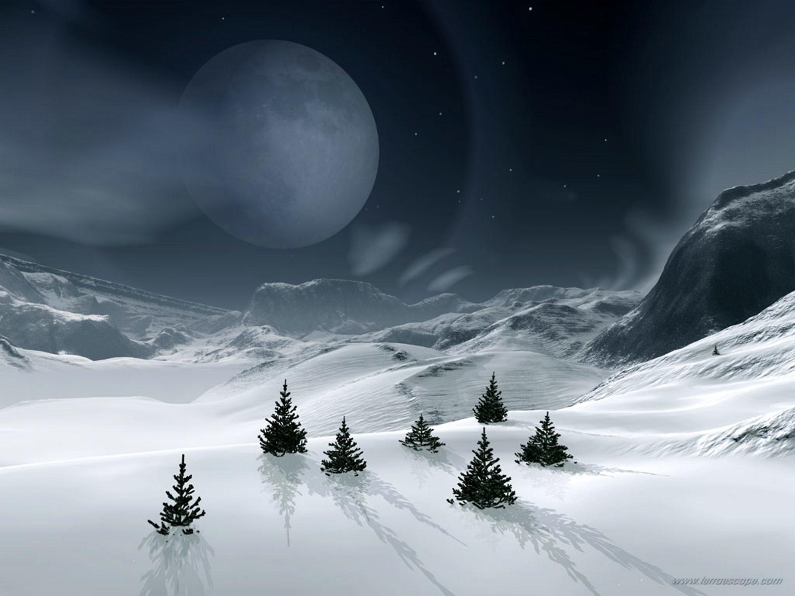 3951 скачать обои Пейзаж, Зима, Планеты, Снег, Елки - заставки и картинки бесплатно