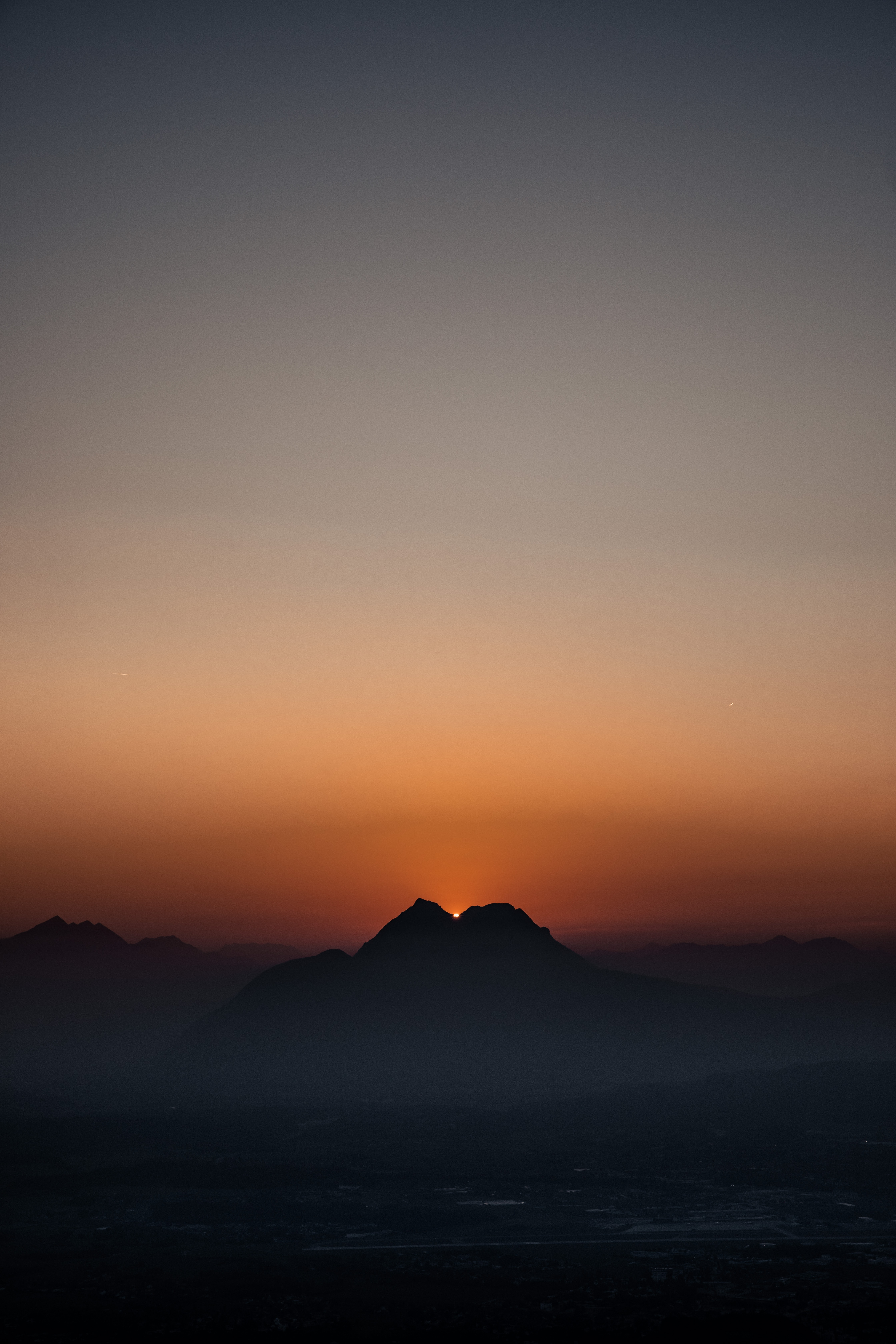 141629 download wallpaper Nature, Sunset, Fog, Dusk, Twilight, Dark, Mountains screensavers and pictures for free