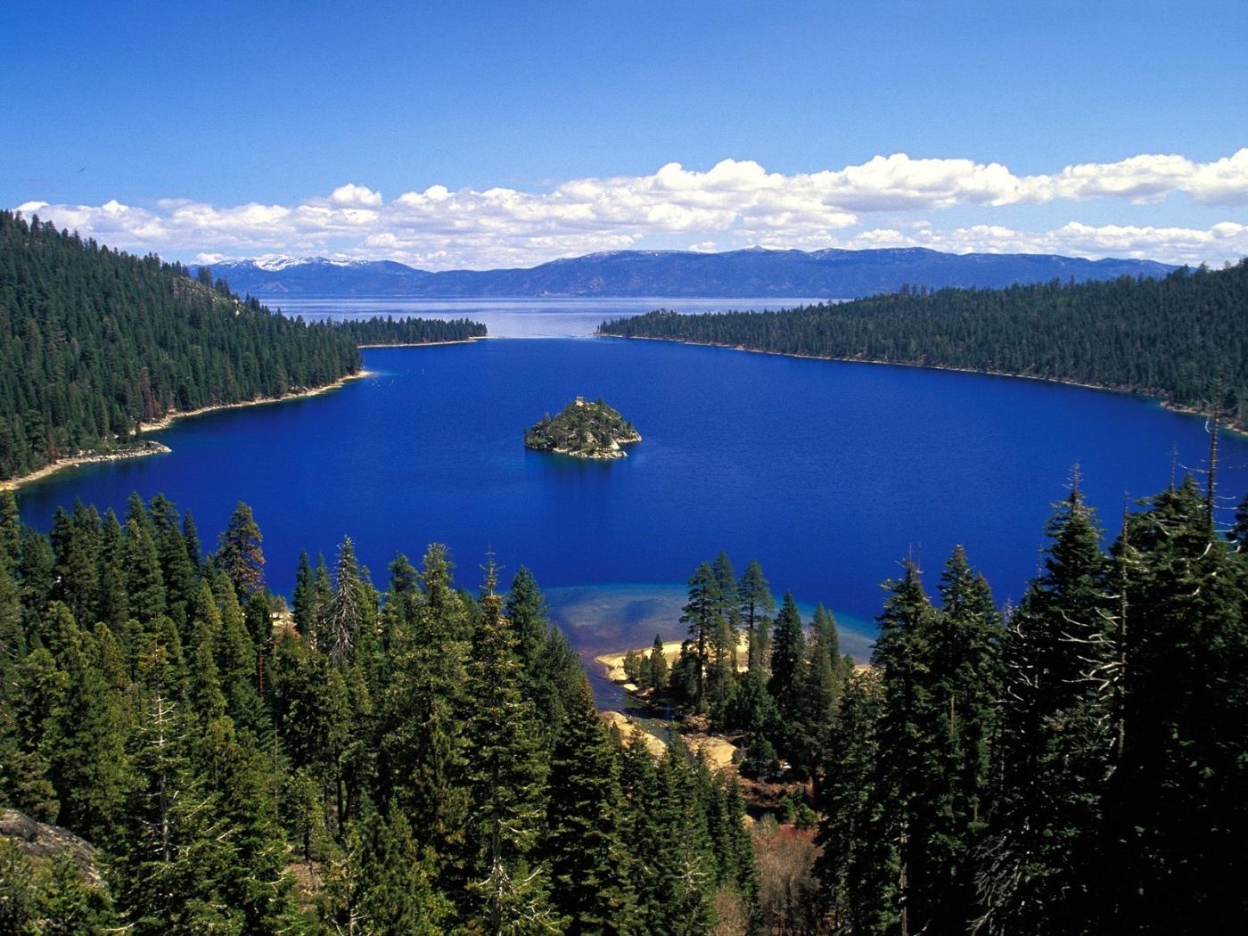 26151 скачать обои Пейзаж, Деревья, Облака, Озера - заставки и картинки бесплатно