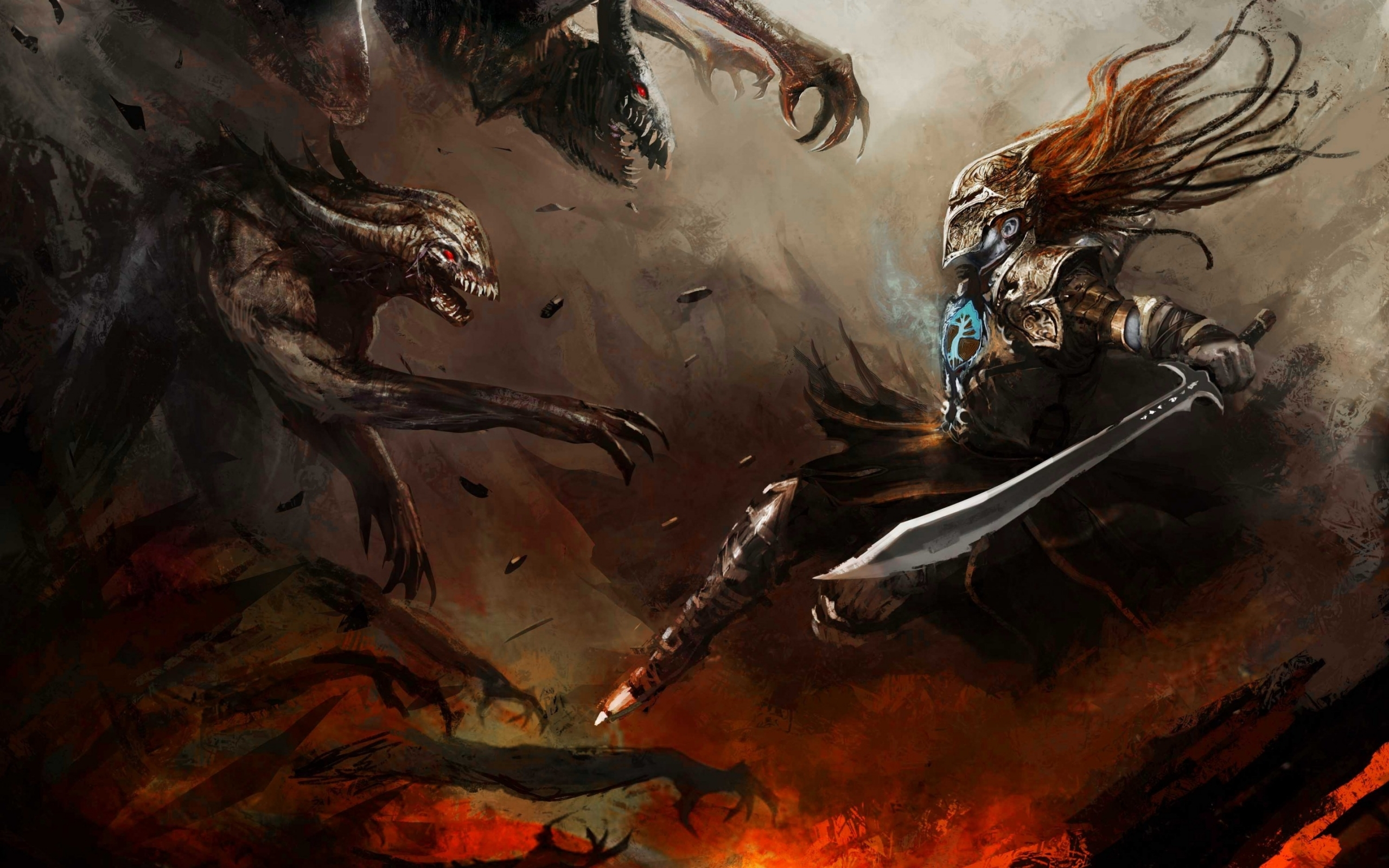 26569 Screensavers and Wallpapers Demons for phone. Download Fantasy, Swords, Men, Demons pictures for free