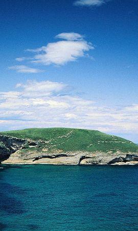 27133 скачать обои Пейзаж, Небо, Горы, Море, Облака - заставки и картинки бесплатно