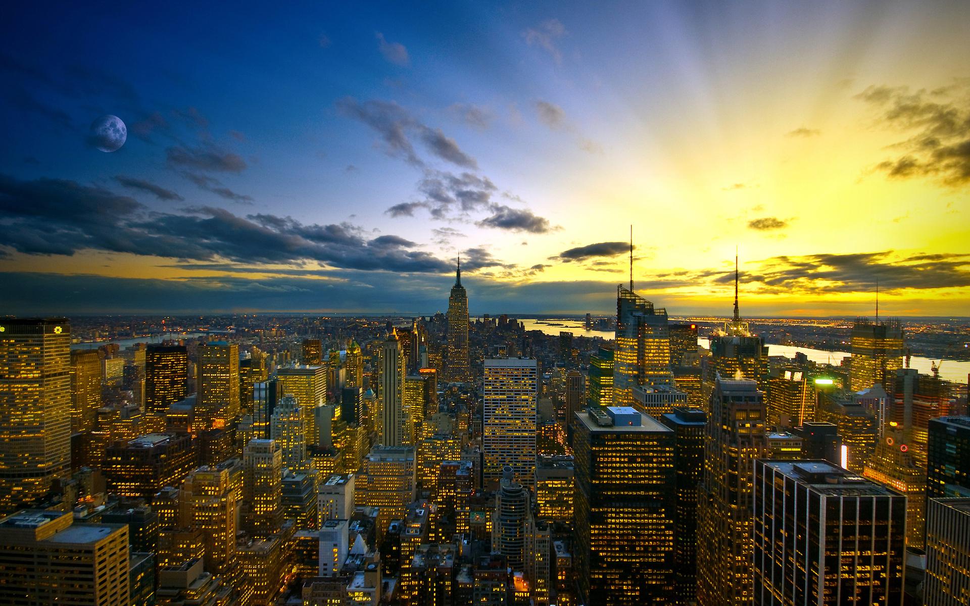 7865 скачать обои Пейзаж, Города, Дома, Небо, Солнце - заставки и картинки бесплатно