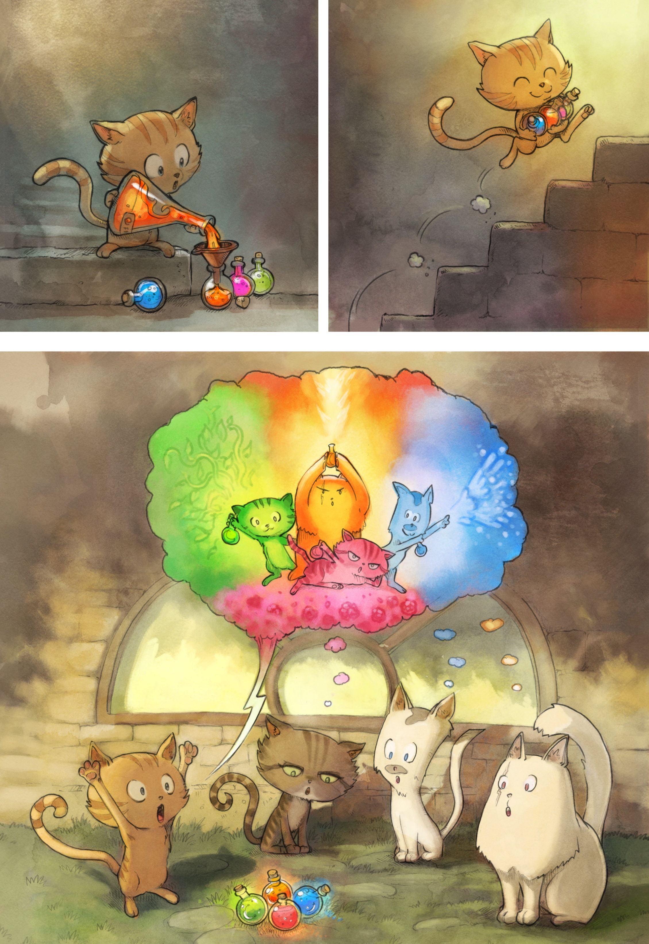 146013 Screensavers and Wallpapers Cats for phone. Download Cats, Comic, Art, Magic pictures for free