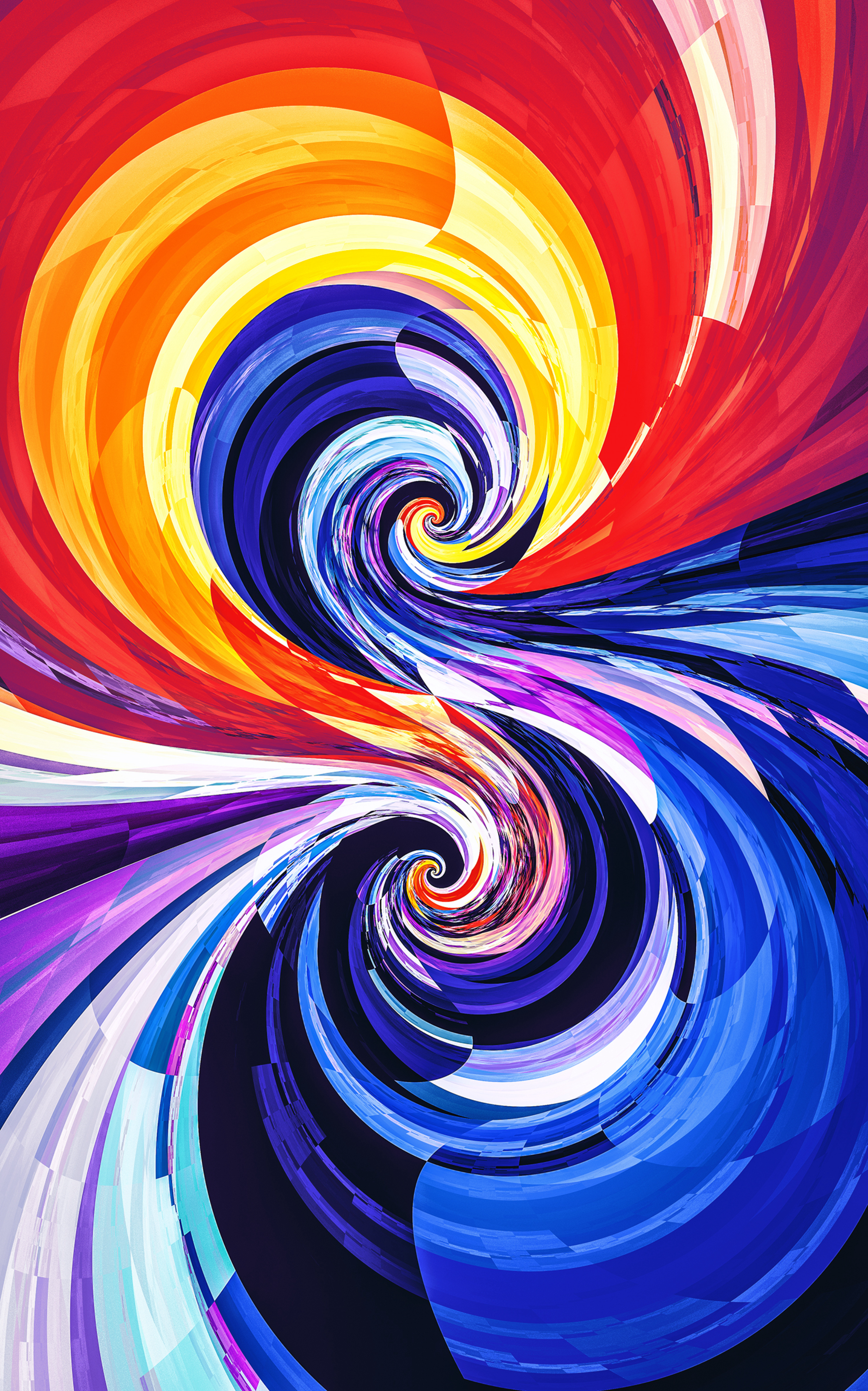 79474 Screensavers and Wallpapers Swirling for phone. Download Abstract, Circles, Multicolored, Motley, Spiral, Spirals, Swirling, Involute pictures for free